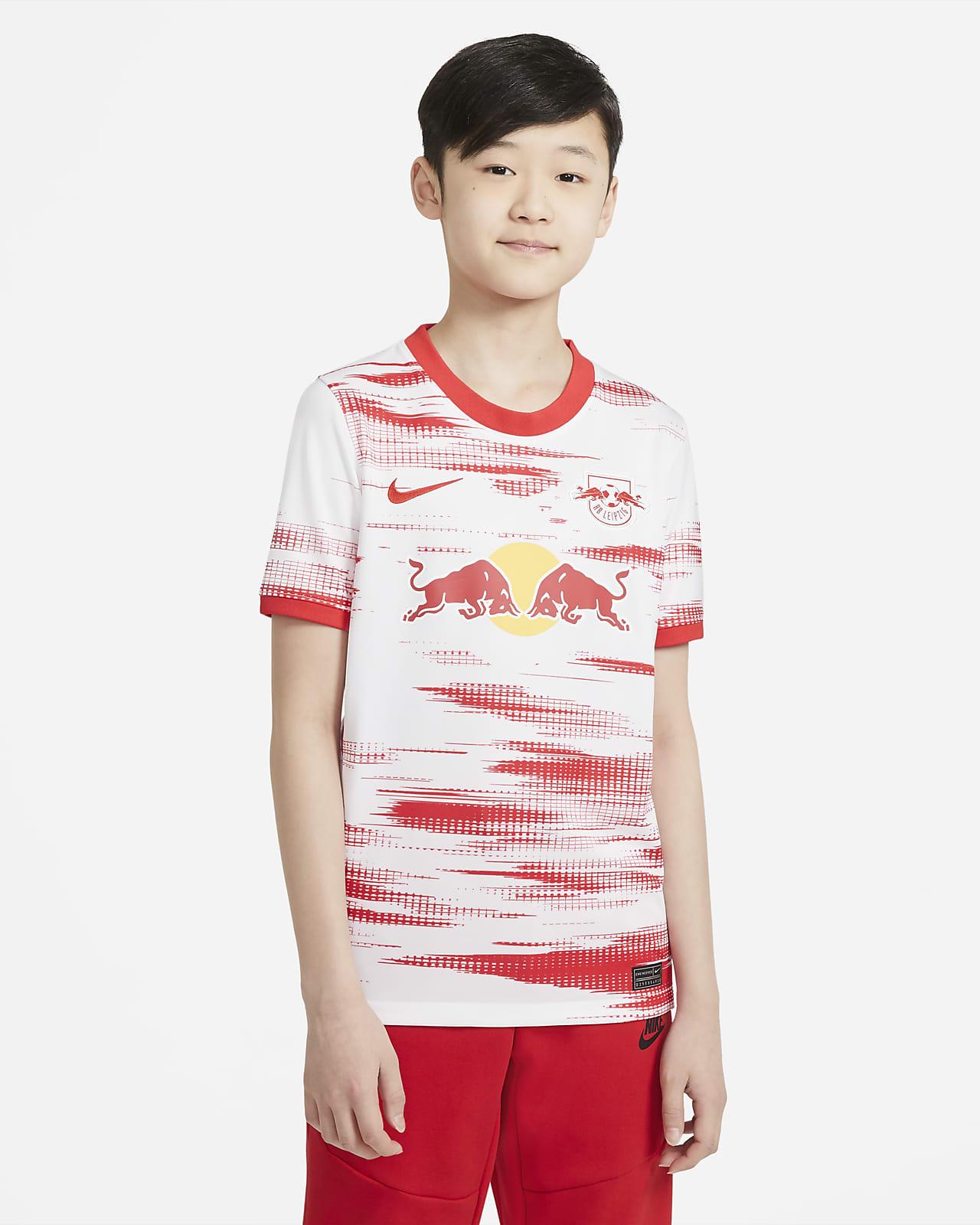 RB Leipzig 2021/22 Stadium Home Older Kids' Football Shirt