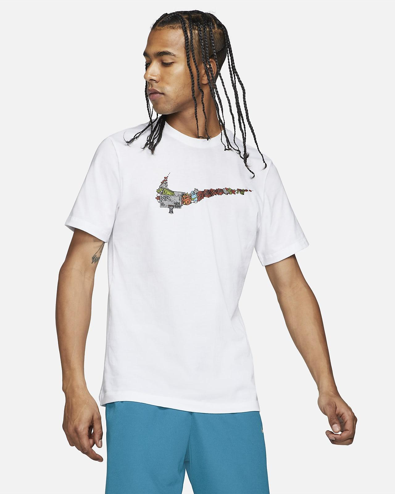 Playera de básquetbol para hombre Nike Swoosh