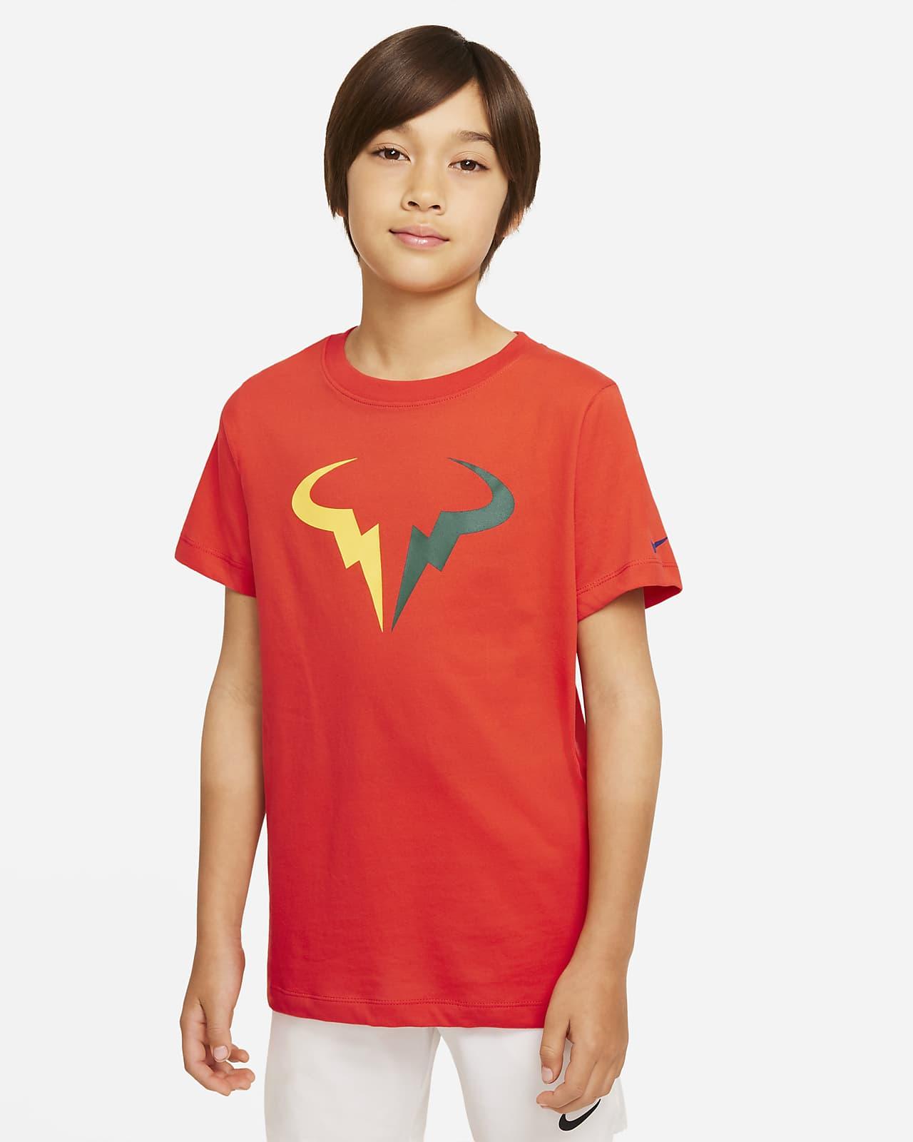 T-shirt de ténis NikeCourt Dri-FIT Rafa Júnior (Rapaz)