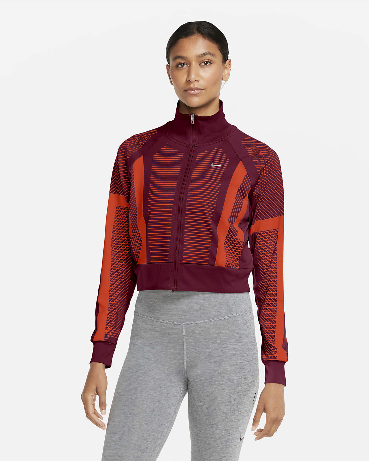 Nike Pro Women's Knit Full-Zip Top