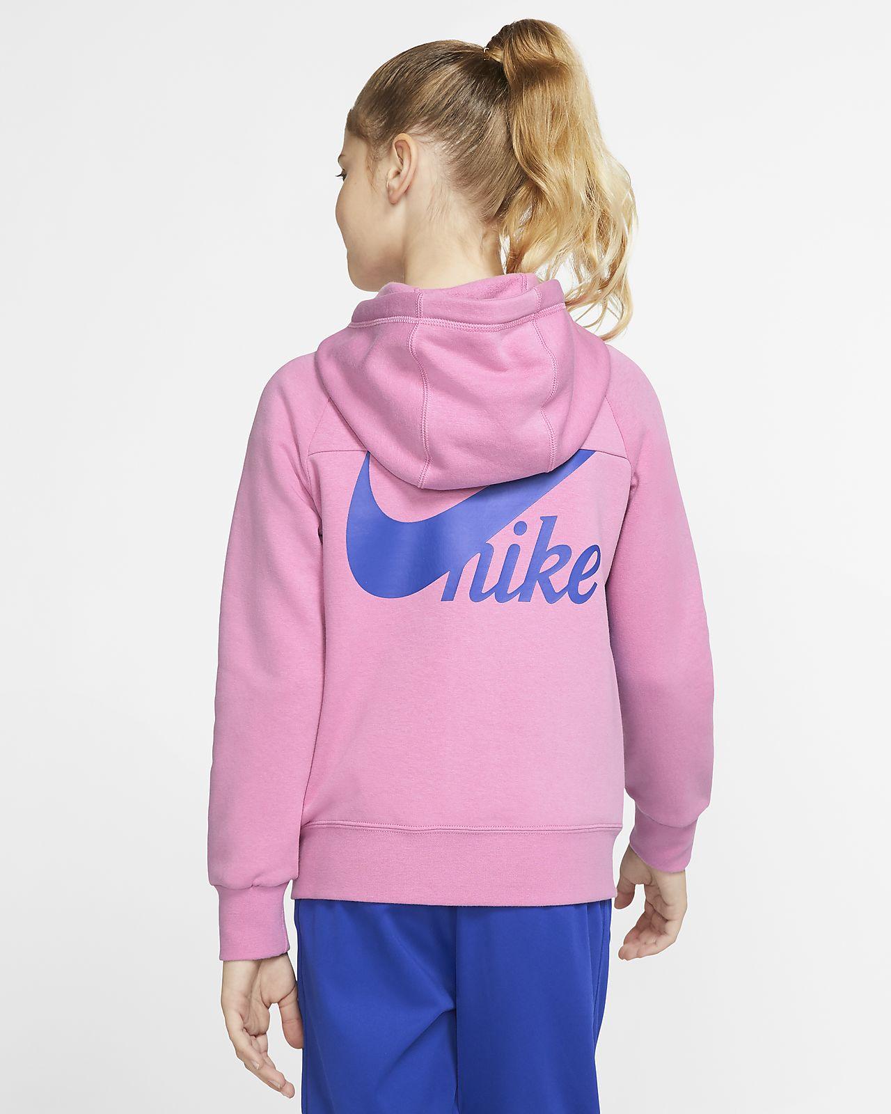 Hoodie com fecho completo Nike Sportswear Júnior (Rapariga)