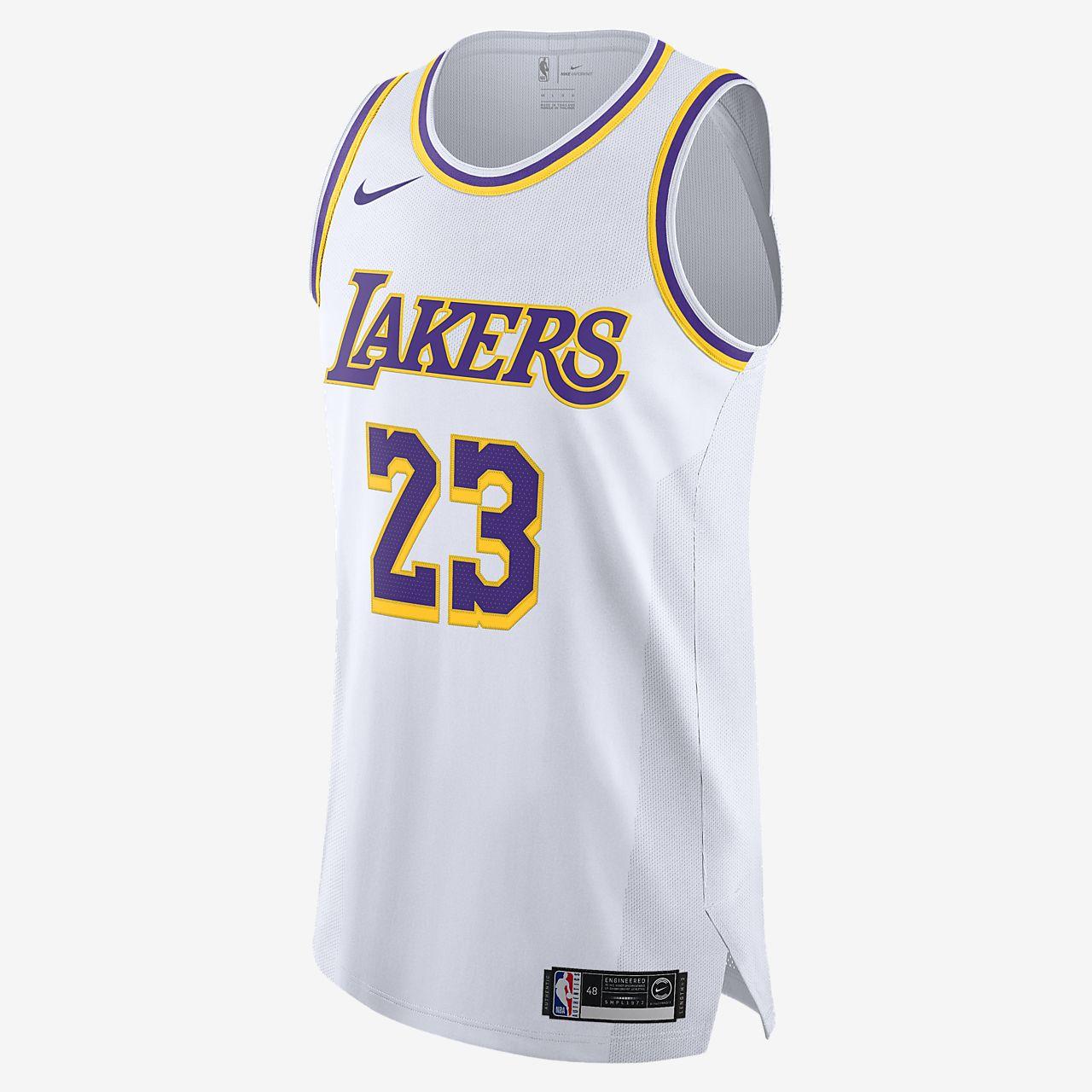 洛杉矶湖人队 (LeBron James) Association Edition Nike NBA Jersey 男子球衣
