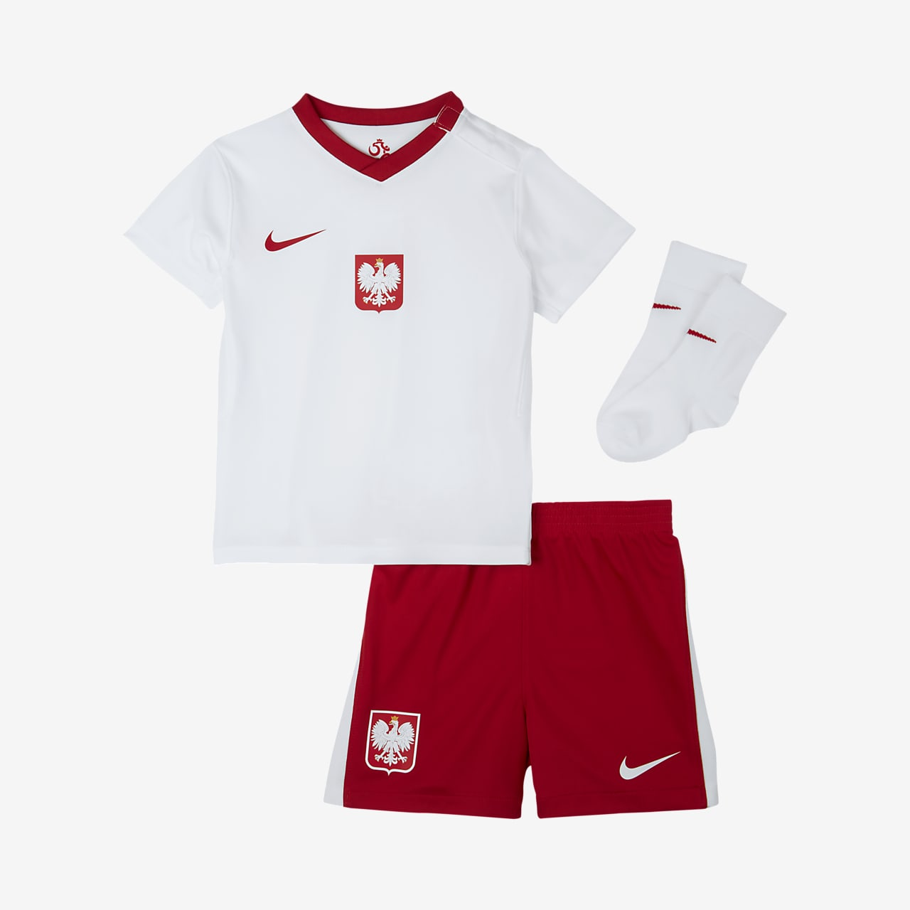 Poland 2020 Home Baby and Toddler Football Kit