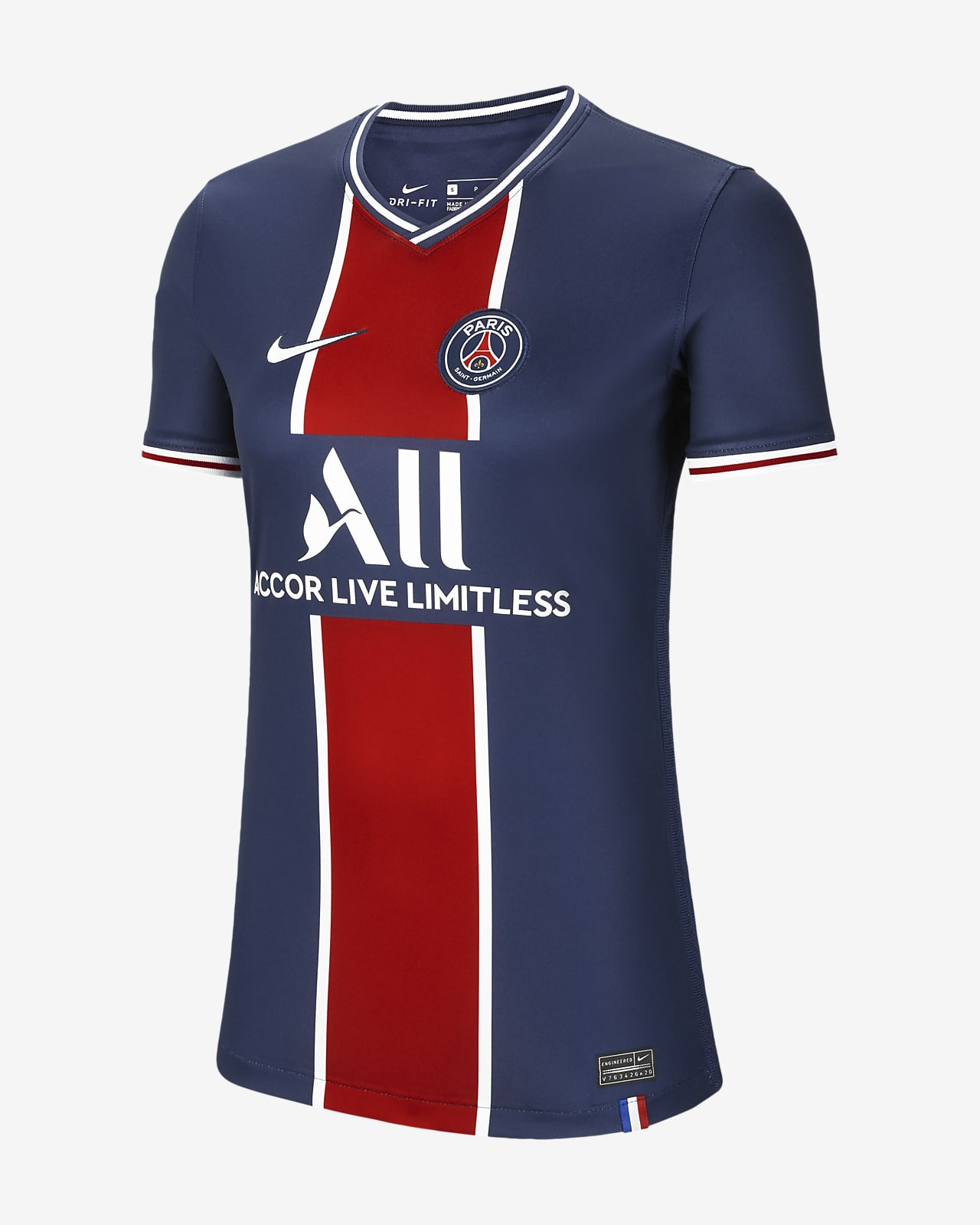 Paris Saint-Germain 2020/21 Stadium Home Women's Football Shirt