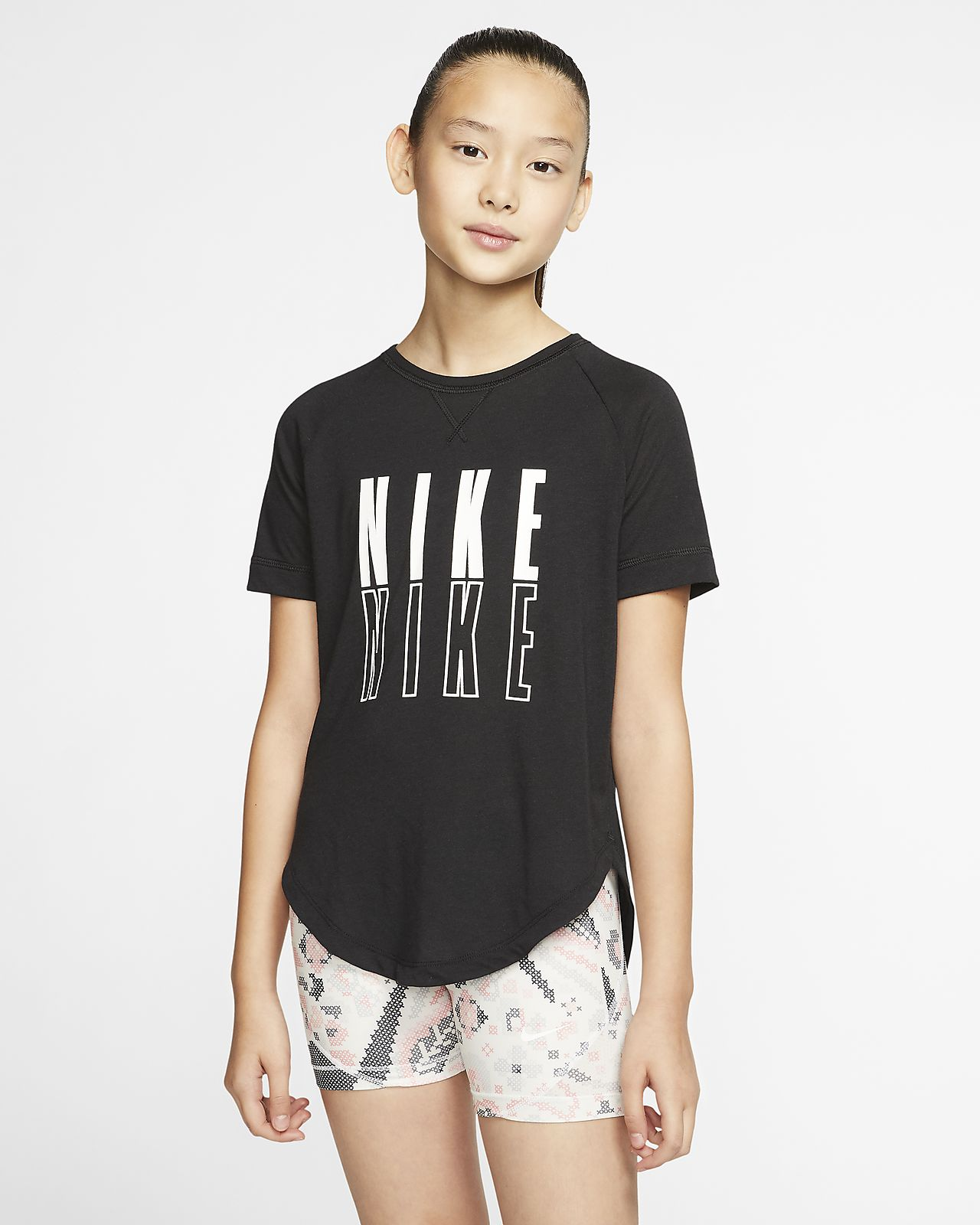 Nike Trophy Older Kids' (Girls') Short-Sleeve Graphic Training Top