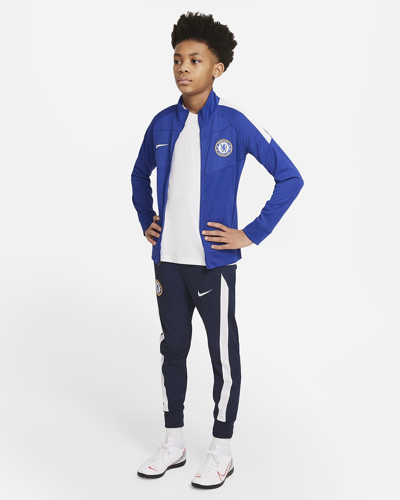 Chelsea FC Academy Pro Nike Dri-FIT Genç Çocuk Futbol Eşofmanı