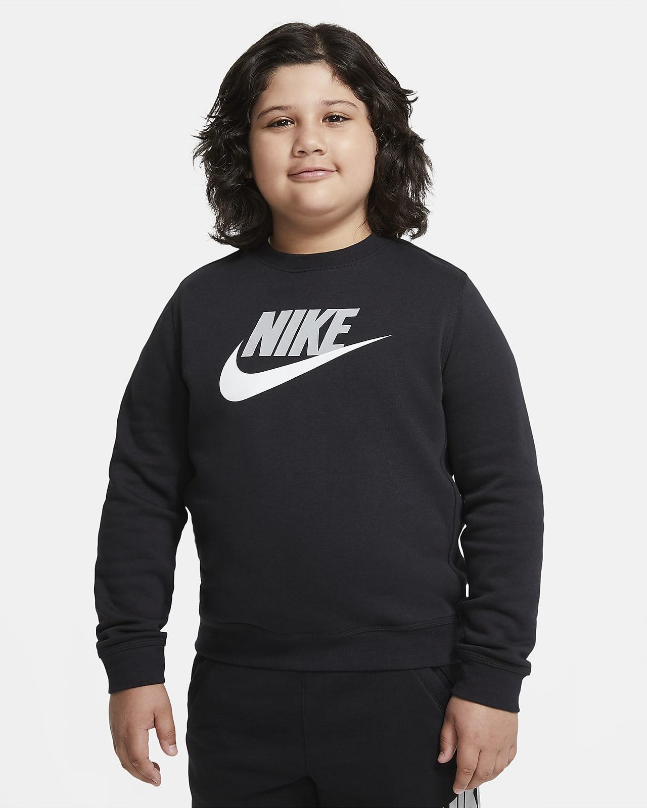 Sudadera para niños talla grande Nike Sportswear Club Fleece