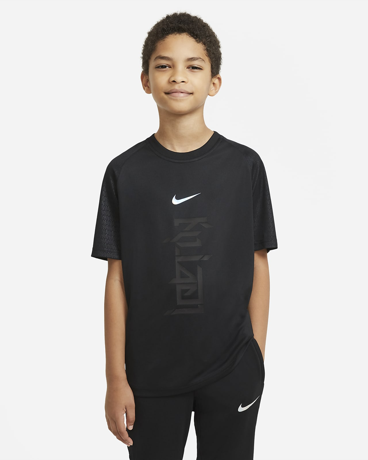 Nike Dri-FIT Kylian Mbappé Big Kids' Short-Sleeve Soccer Top