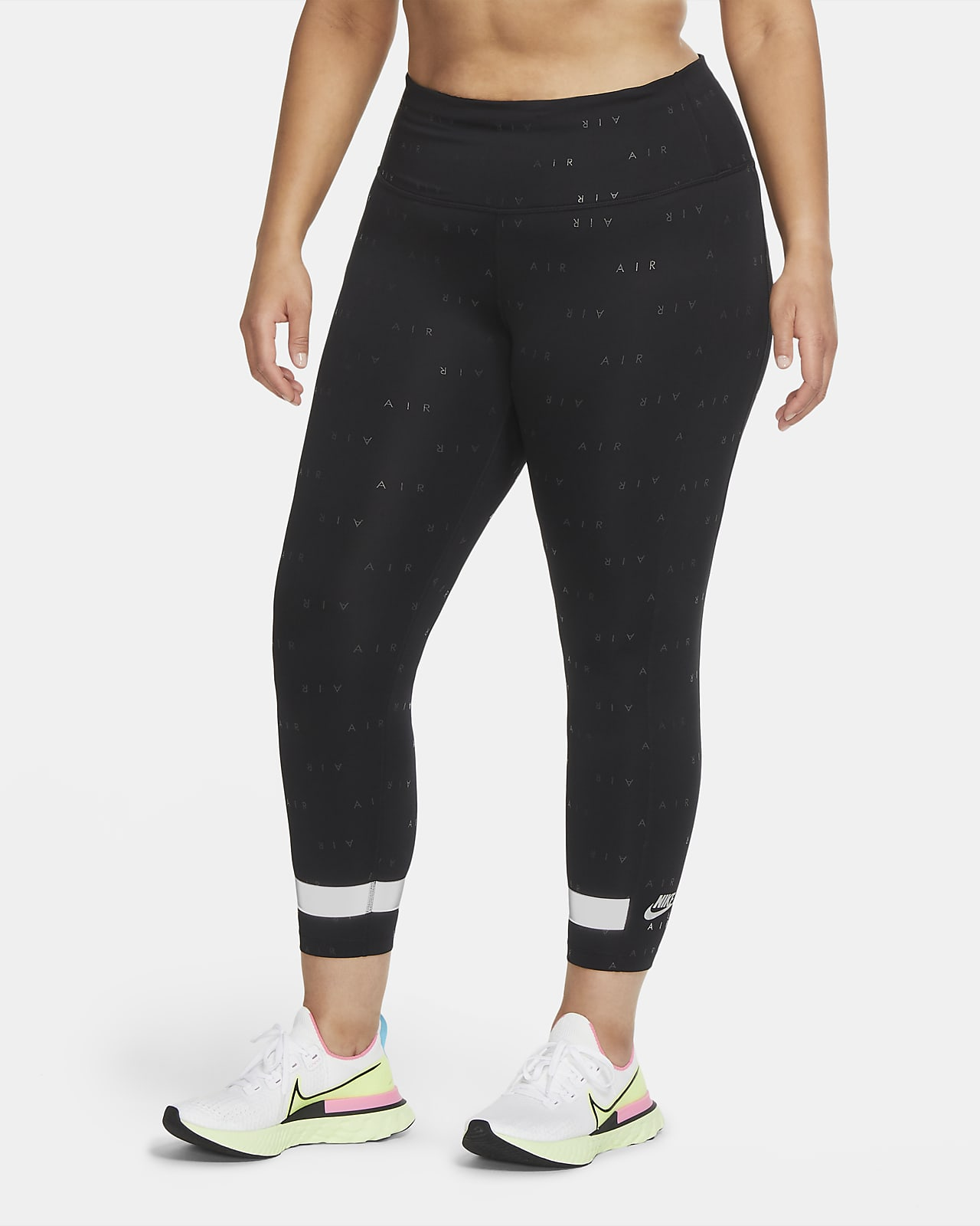 Nike Air Yüksek Belli 7/8 Kadın Koşu Taytı (Büyük Beden)