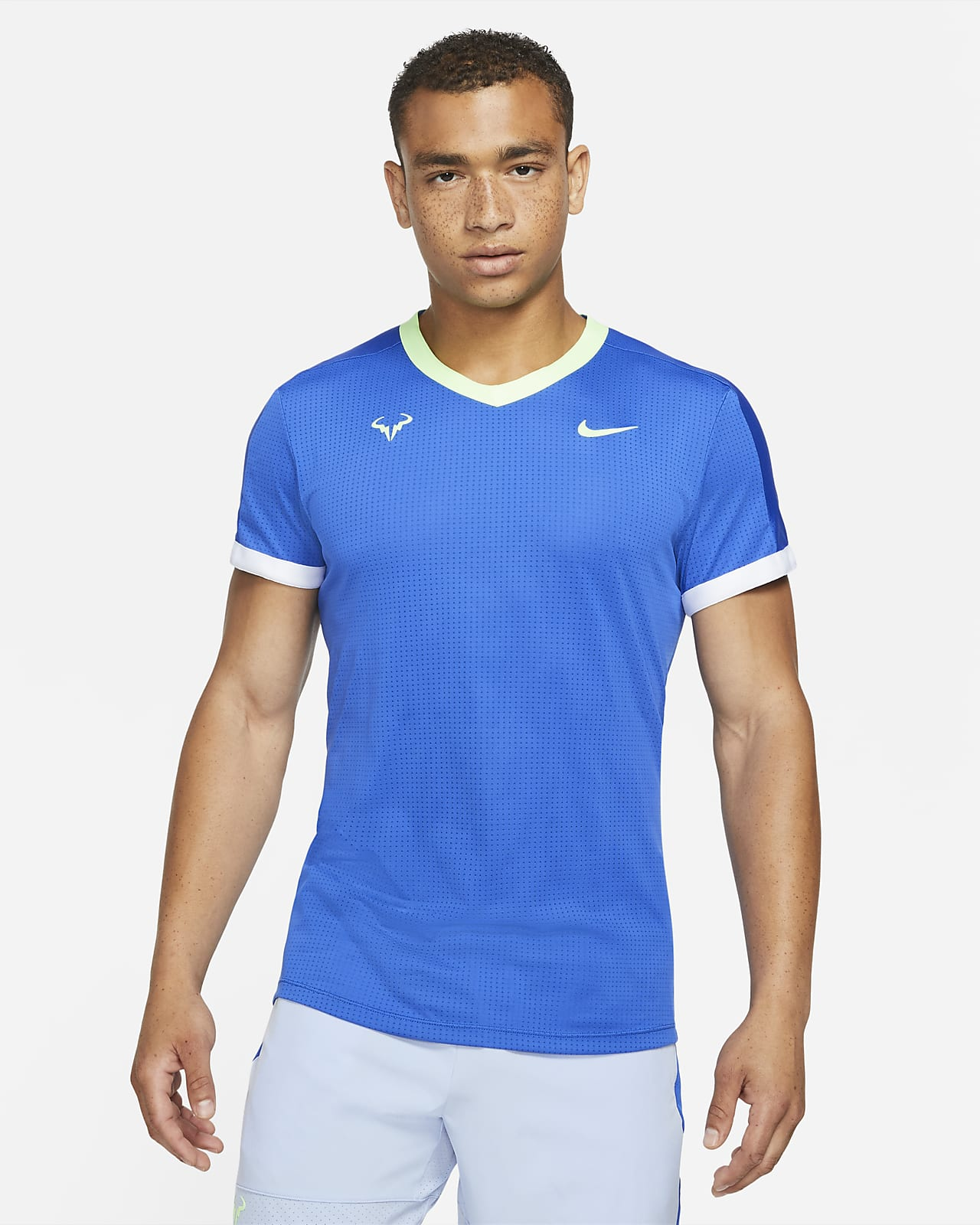 Camiseta de tenis de manga corta para hombre NikeCourt Dri-FIT ADV Rafa
