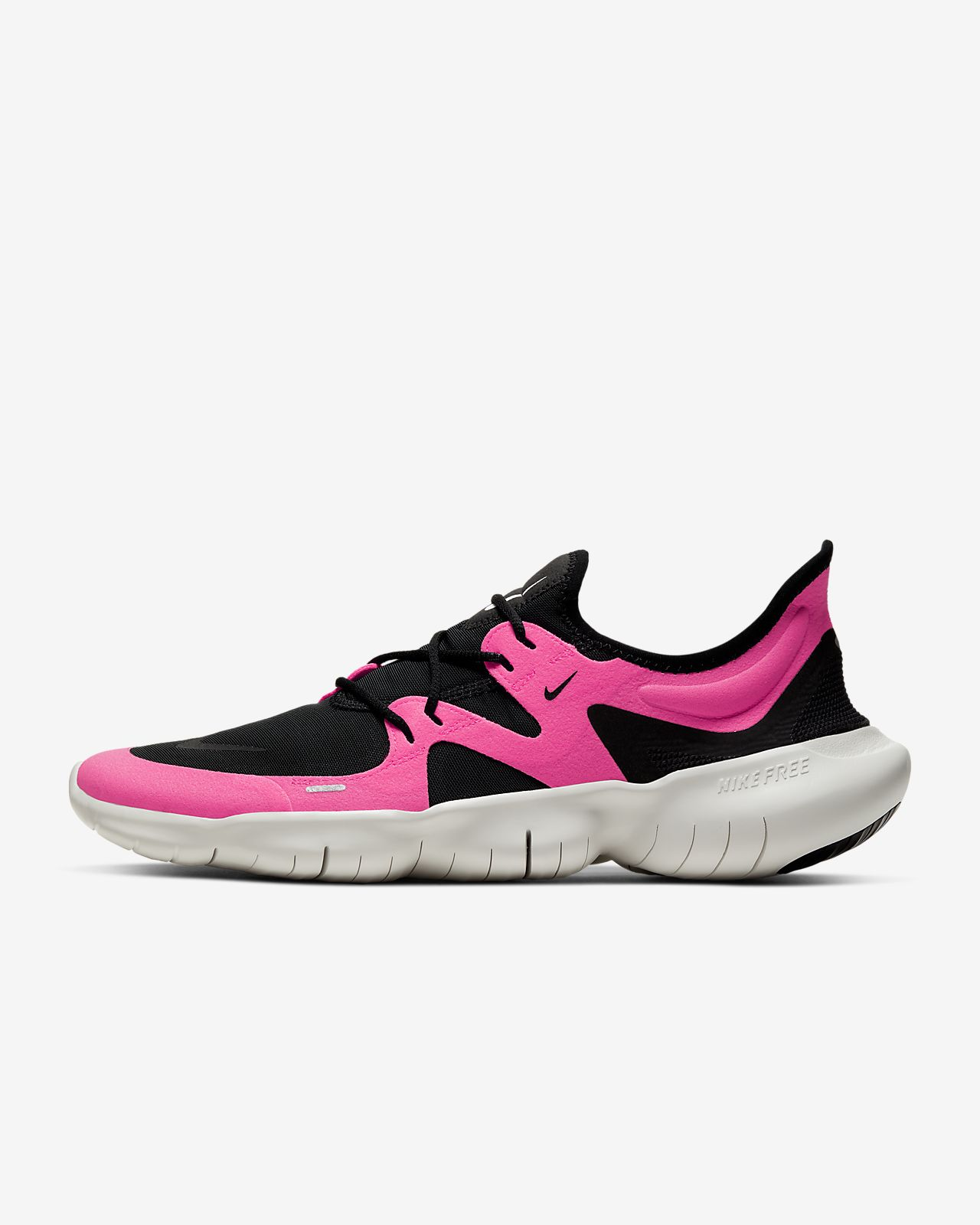 pink and black nike frees