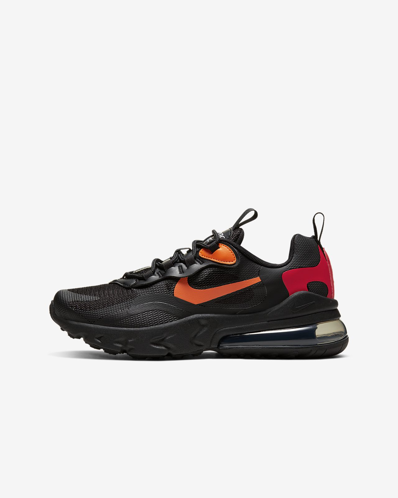 nike air max 270 react black orange