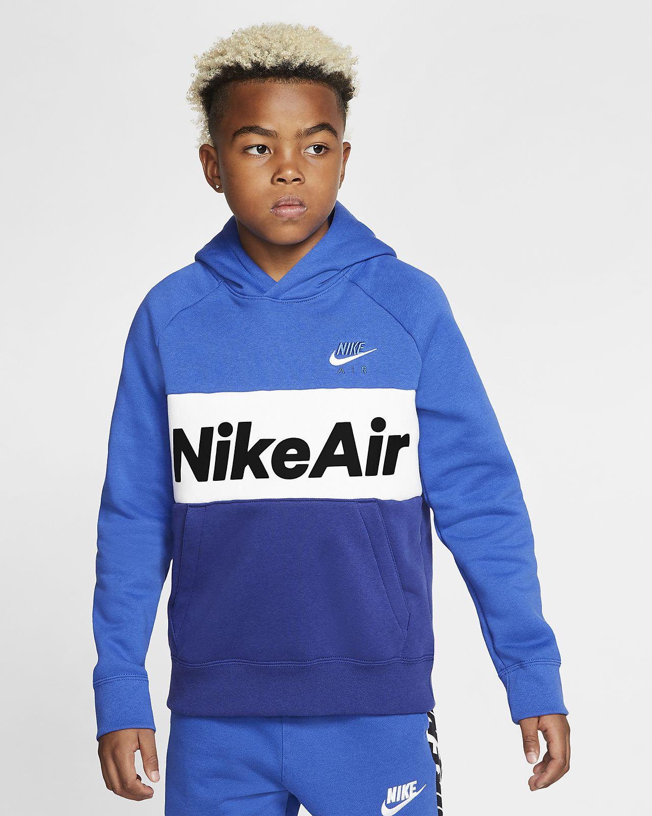 Nike Air pullover hettegenser til store barn (gutt)