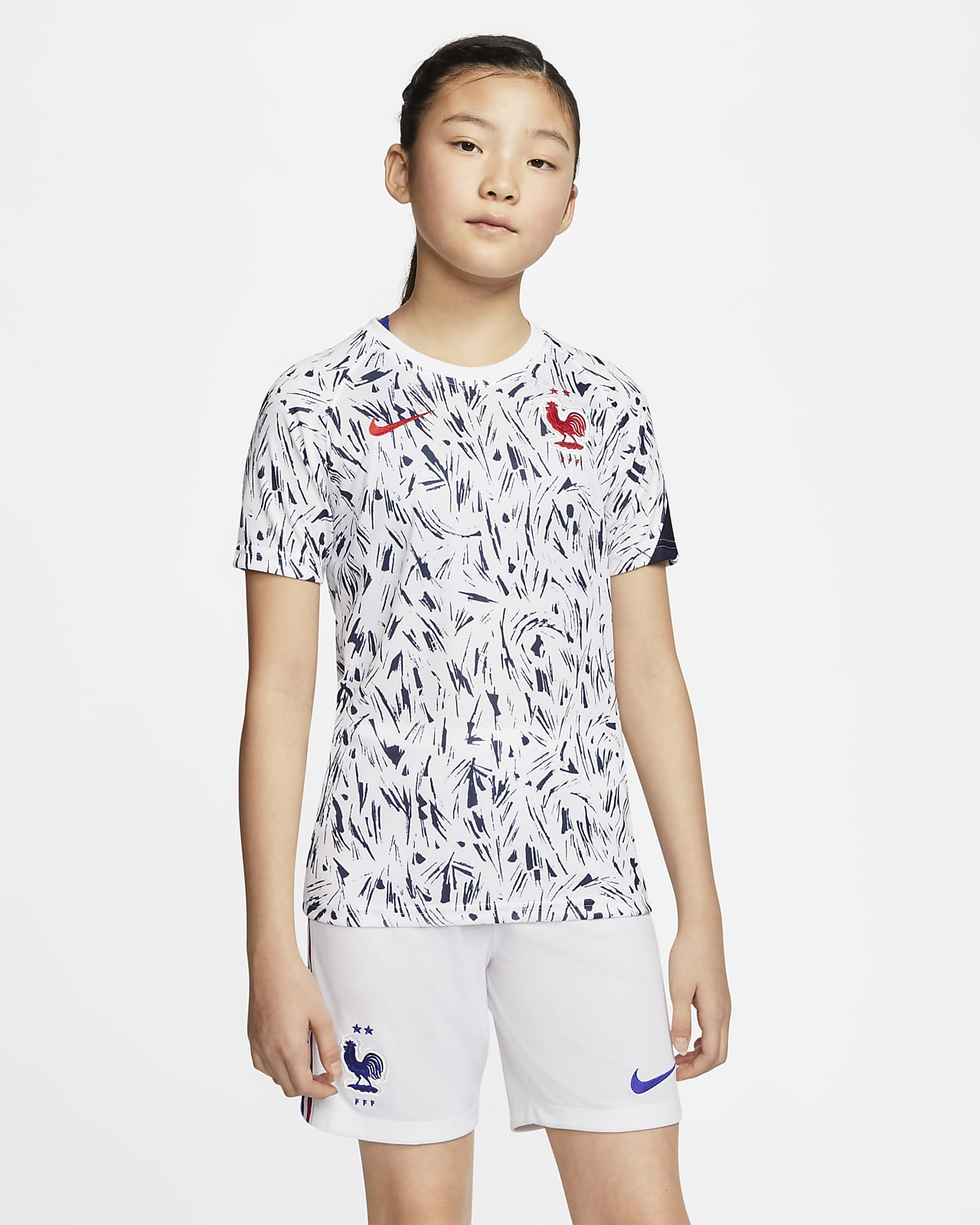 เสื้อฟุตบอลแขนสั้นเด็กโต FFF