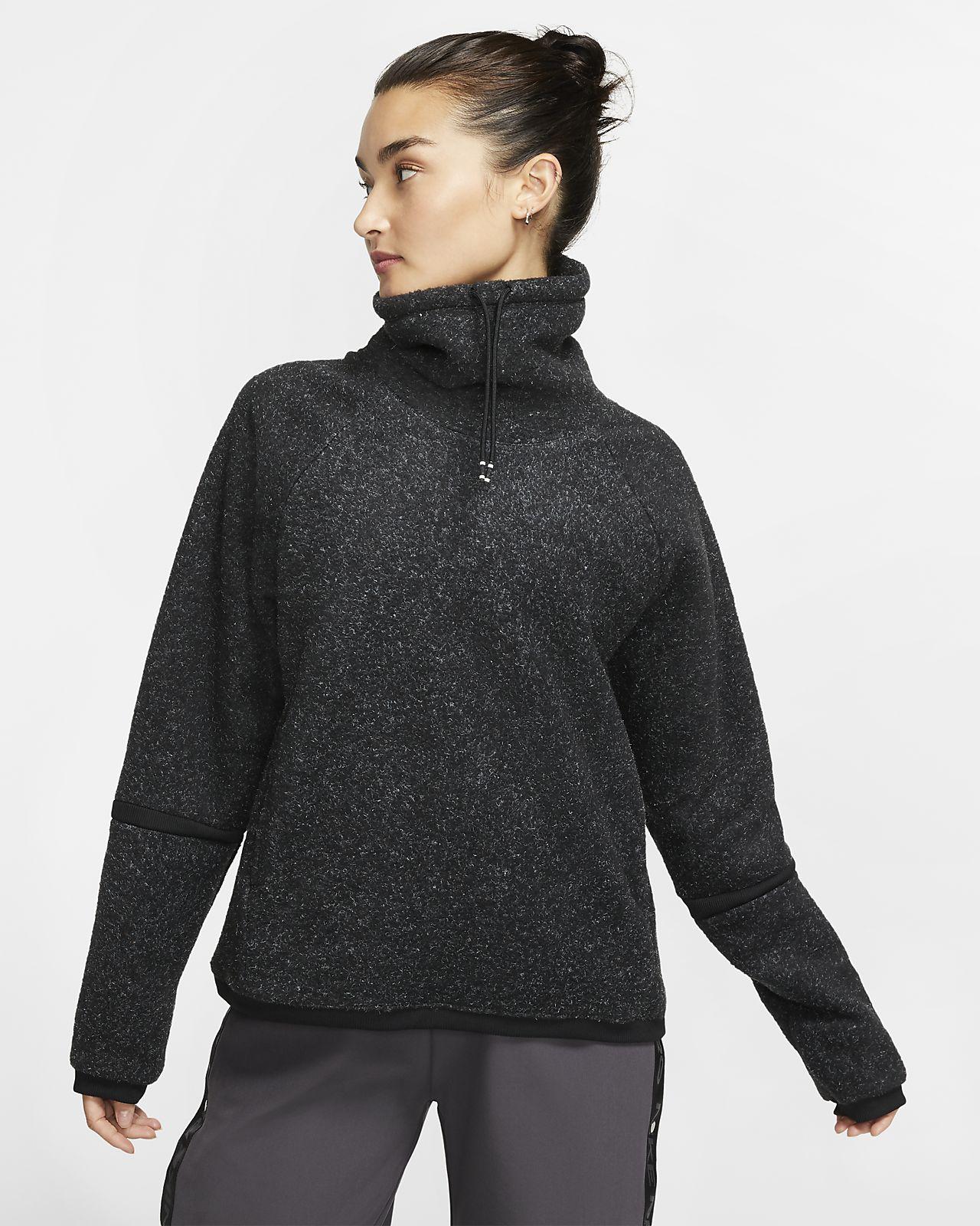 Nike Therma langermet treningsoverdel i fleece til dame