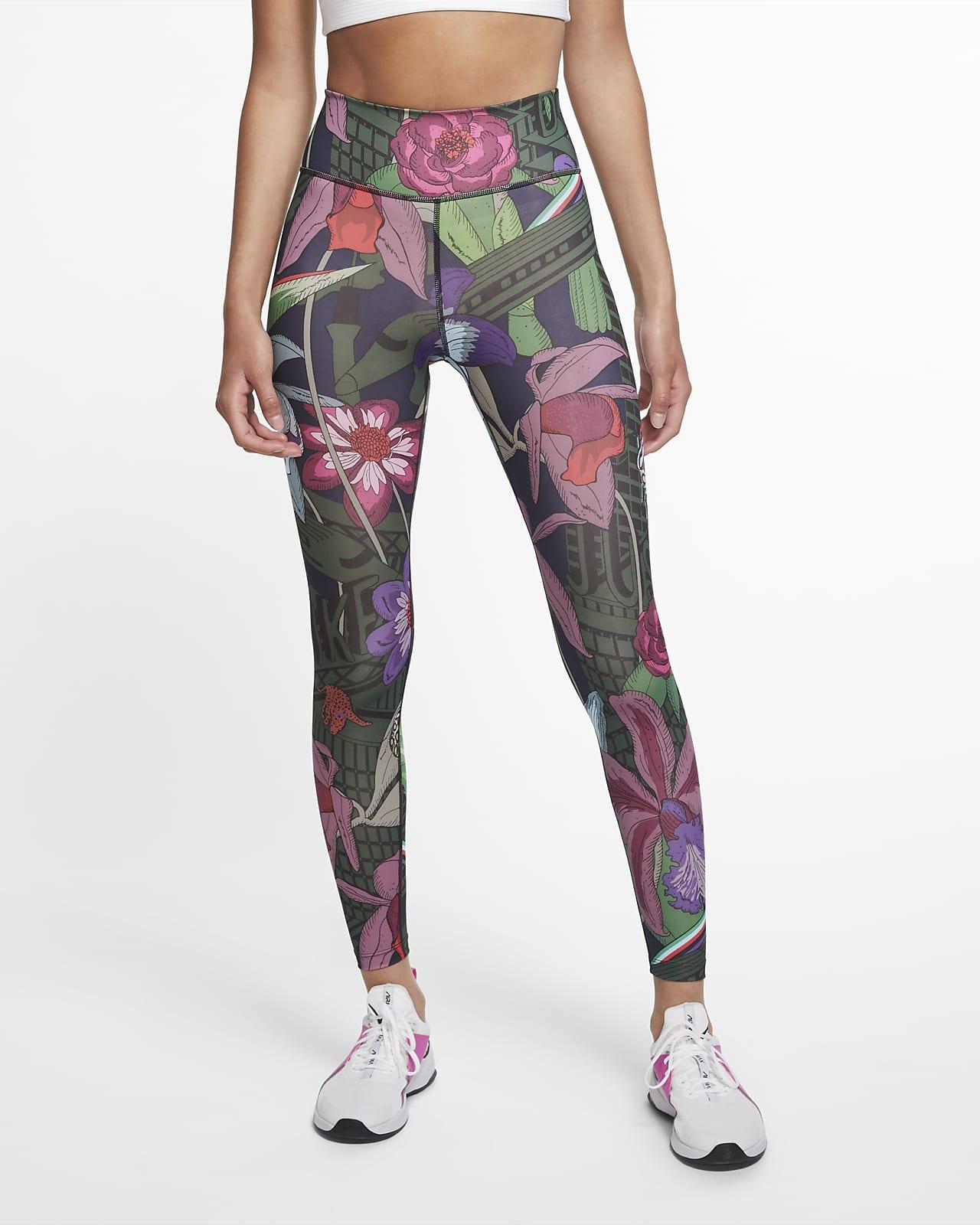 Nike One Icon Clash Tights mit Print für Damen