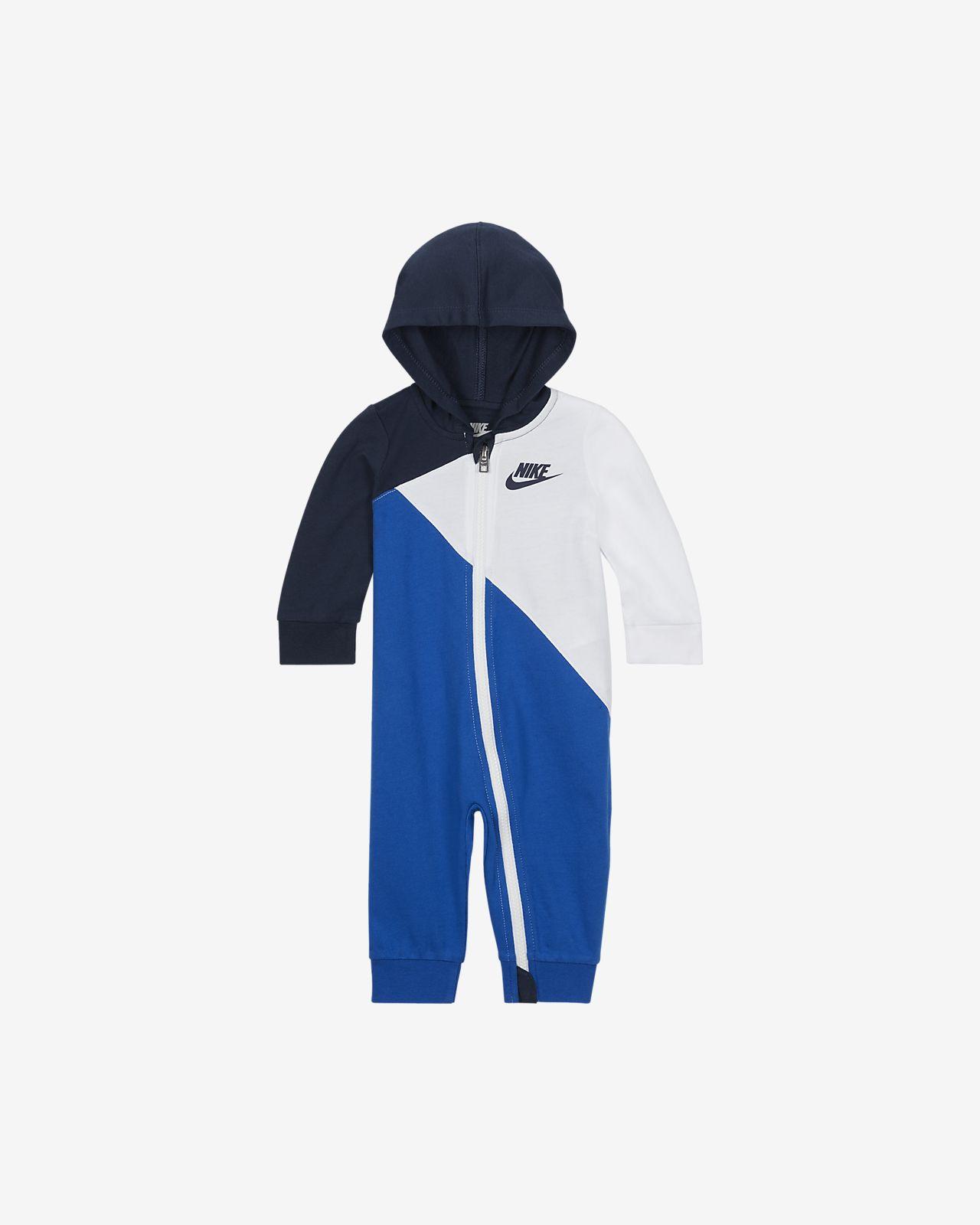 Nike Baby (0–9M) Hooded Full-Zip Overall