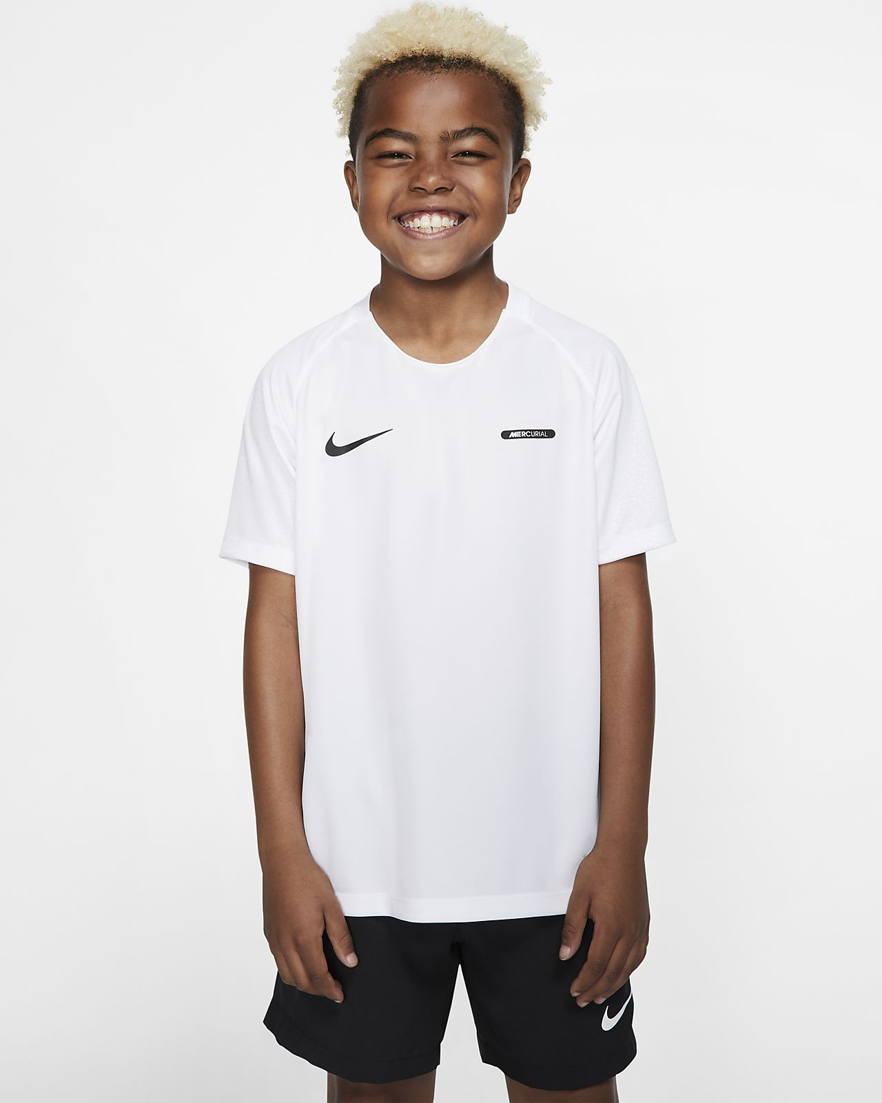 Nike Dri-FIT Mercurial Older Kids' Short-Sleeve Football Top