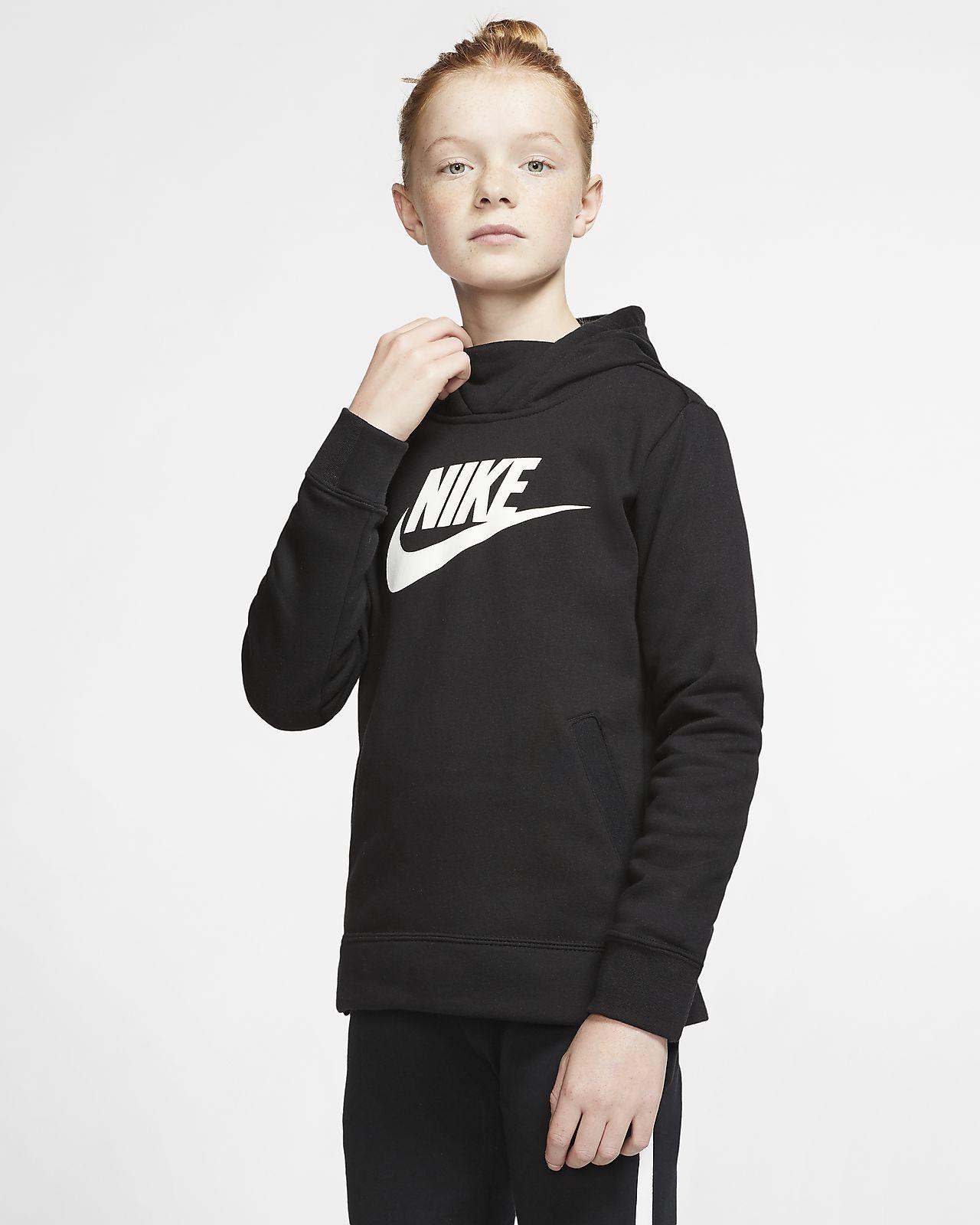 Sudadera con capucha sin cierre para niña Nike Sportswear