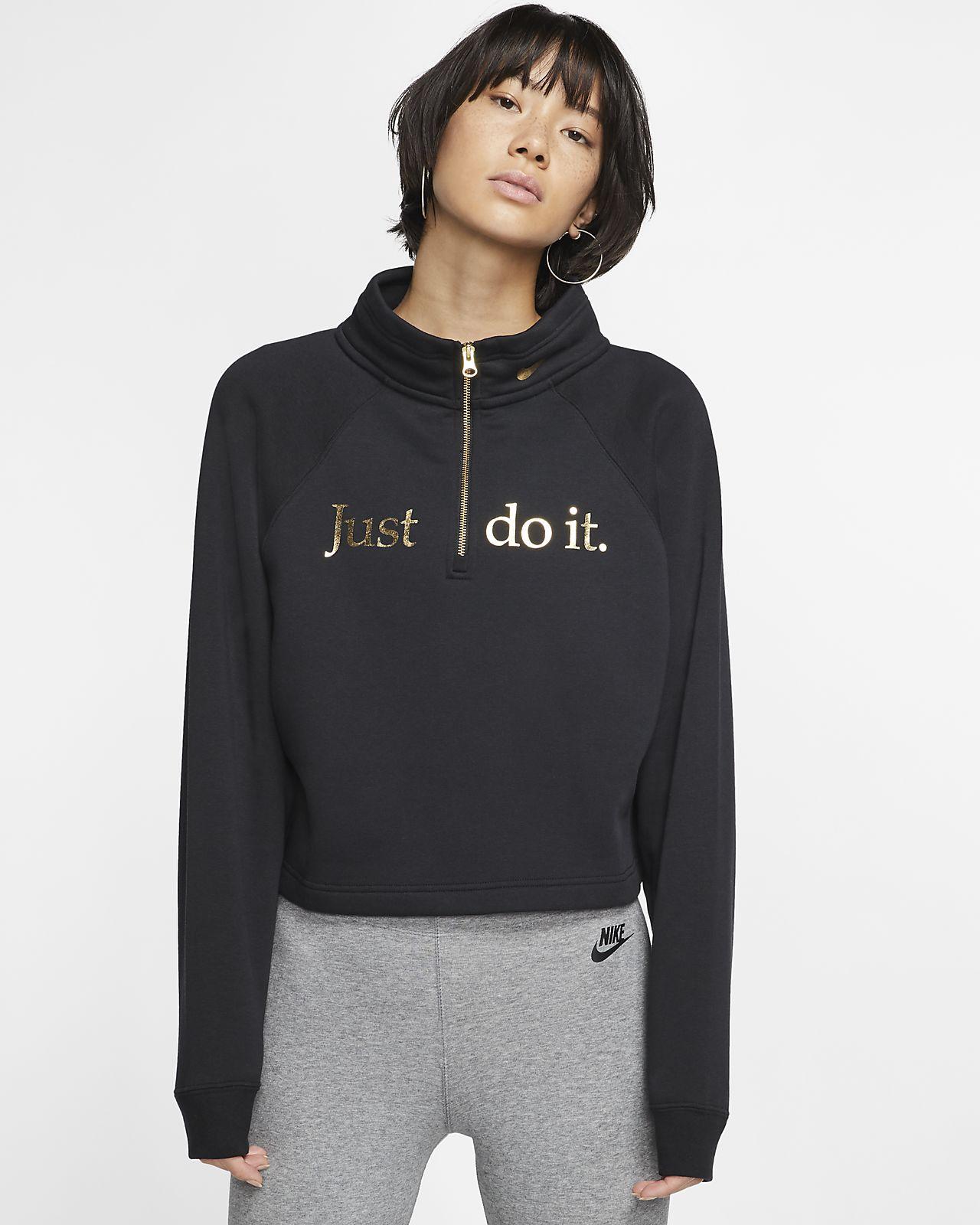 Nike Sportswear Women's Funnel-Neck 1/2-Zip Top