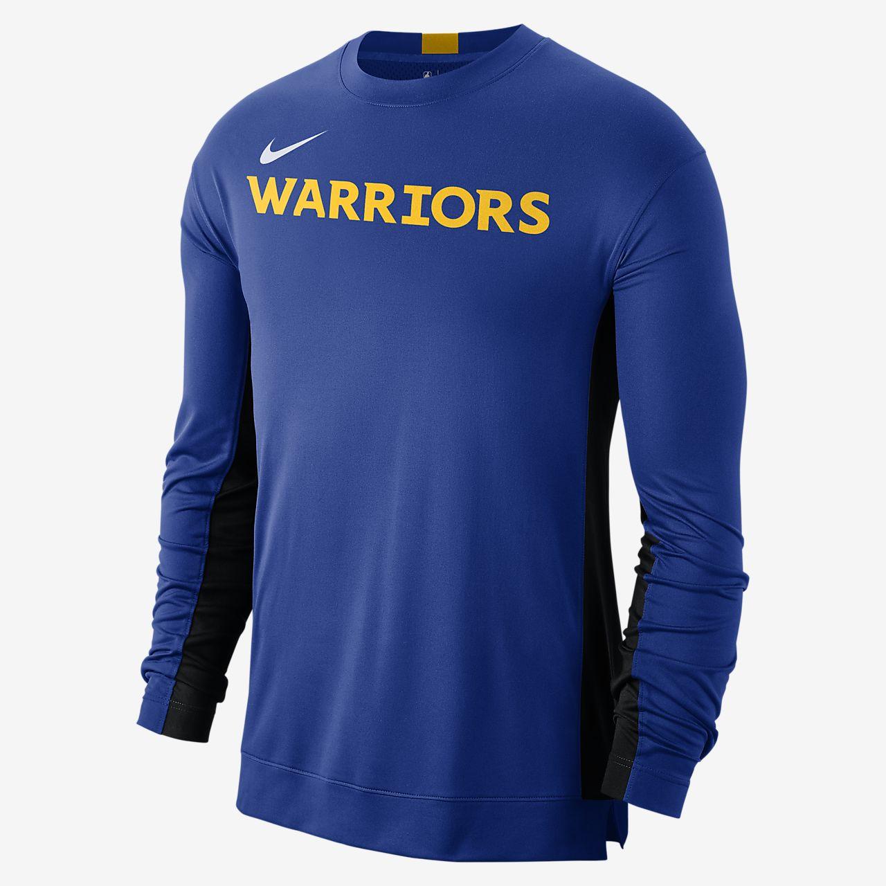 Golden State Warriors Nike Dri FIT NBA opvarmningstrøje til mænd