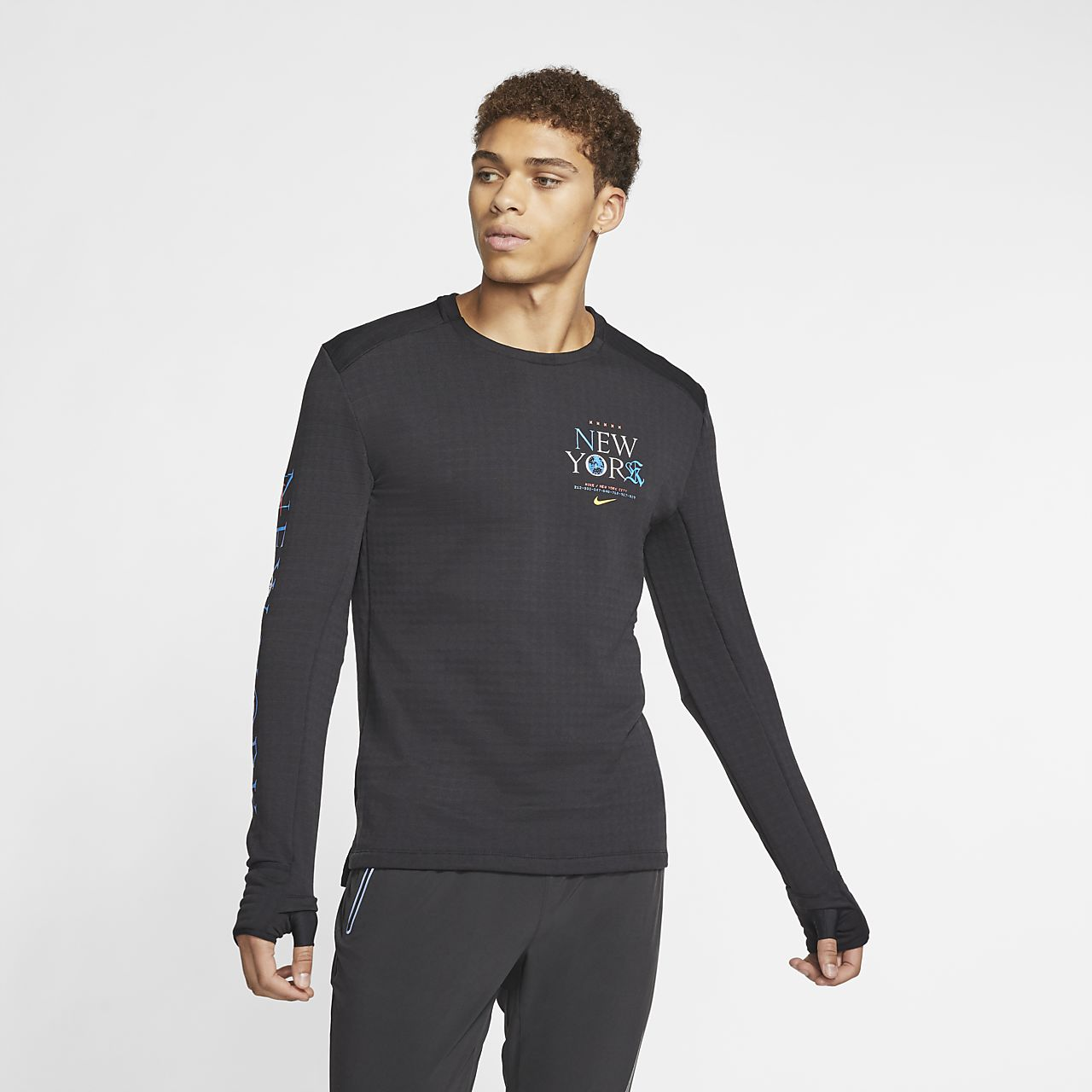 Nike Therma Sphere 3.0 NYC hosszú ujjú férfi futófelső