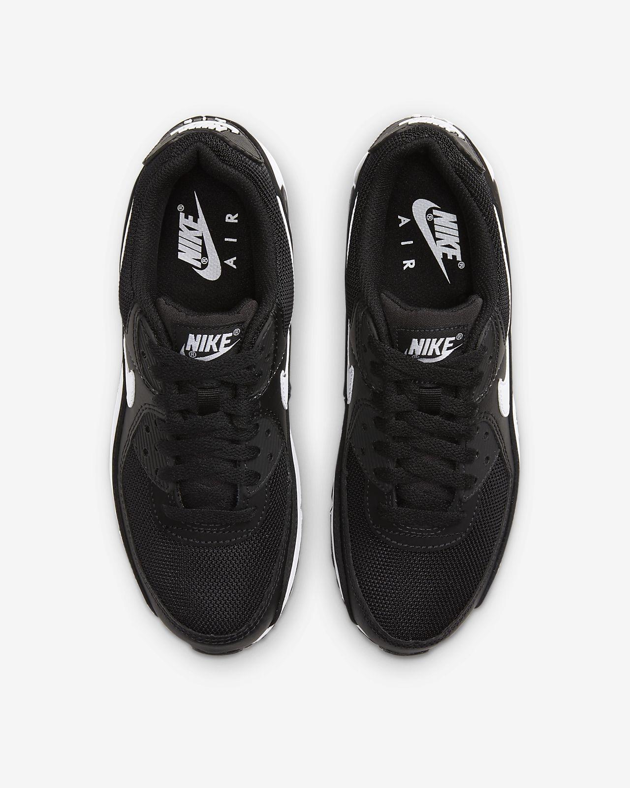 Sverige Nike Air Max 90 360 Kvinna Man Skor Black Black