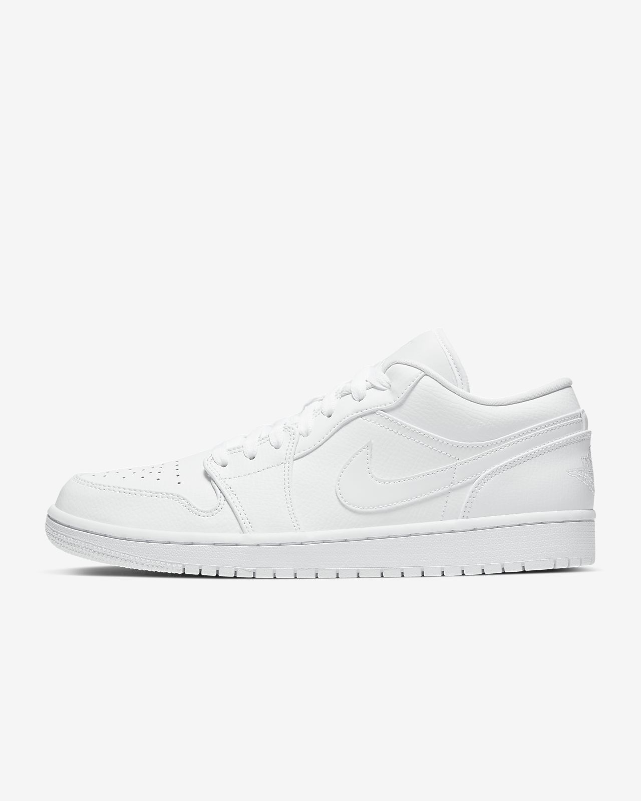 white low top air jordans