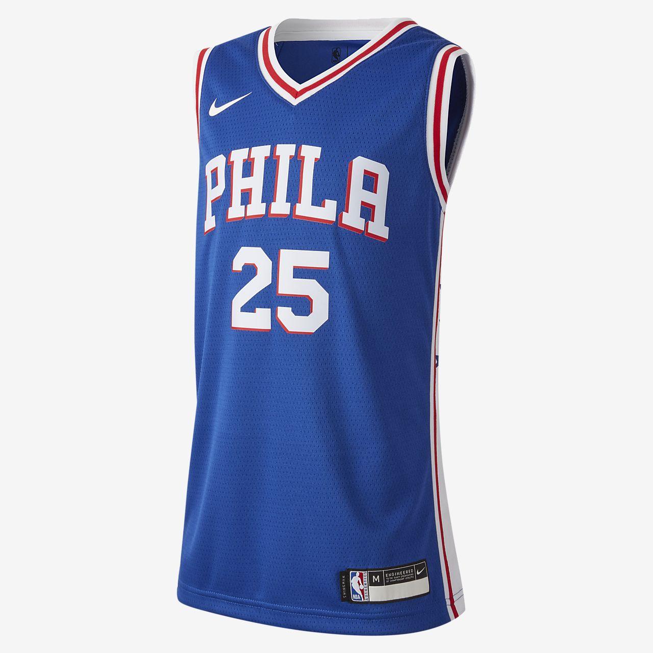 Ben Simmons Icon Edition Swingman (Philadelphia 76ers) Big Kids' Nike NBA Jersey