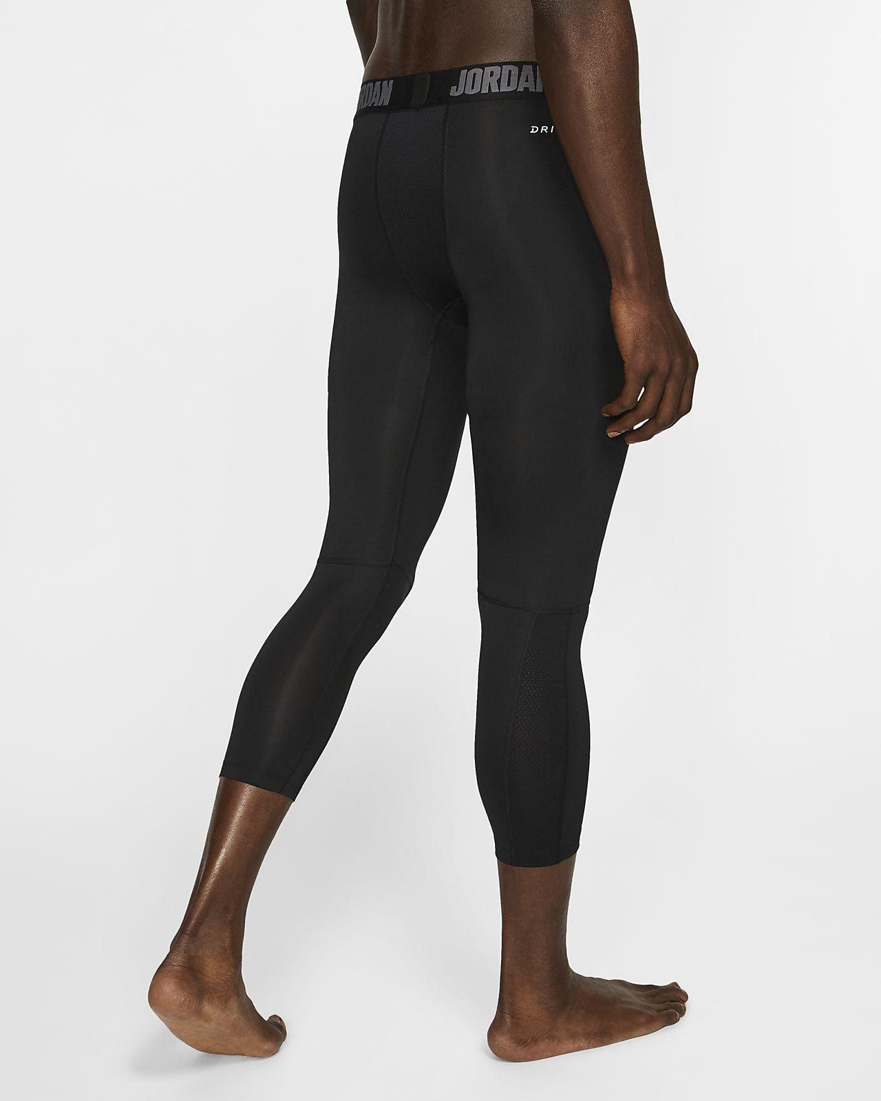 Men/'s Nike Dry Dri-Fit Jordan 3//4 Length COMPRESSION TIGHT FIT Pants SIze S