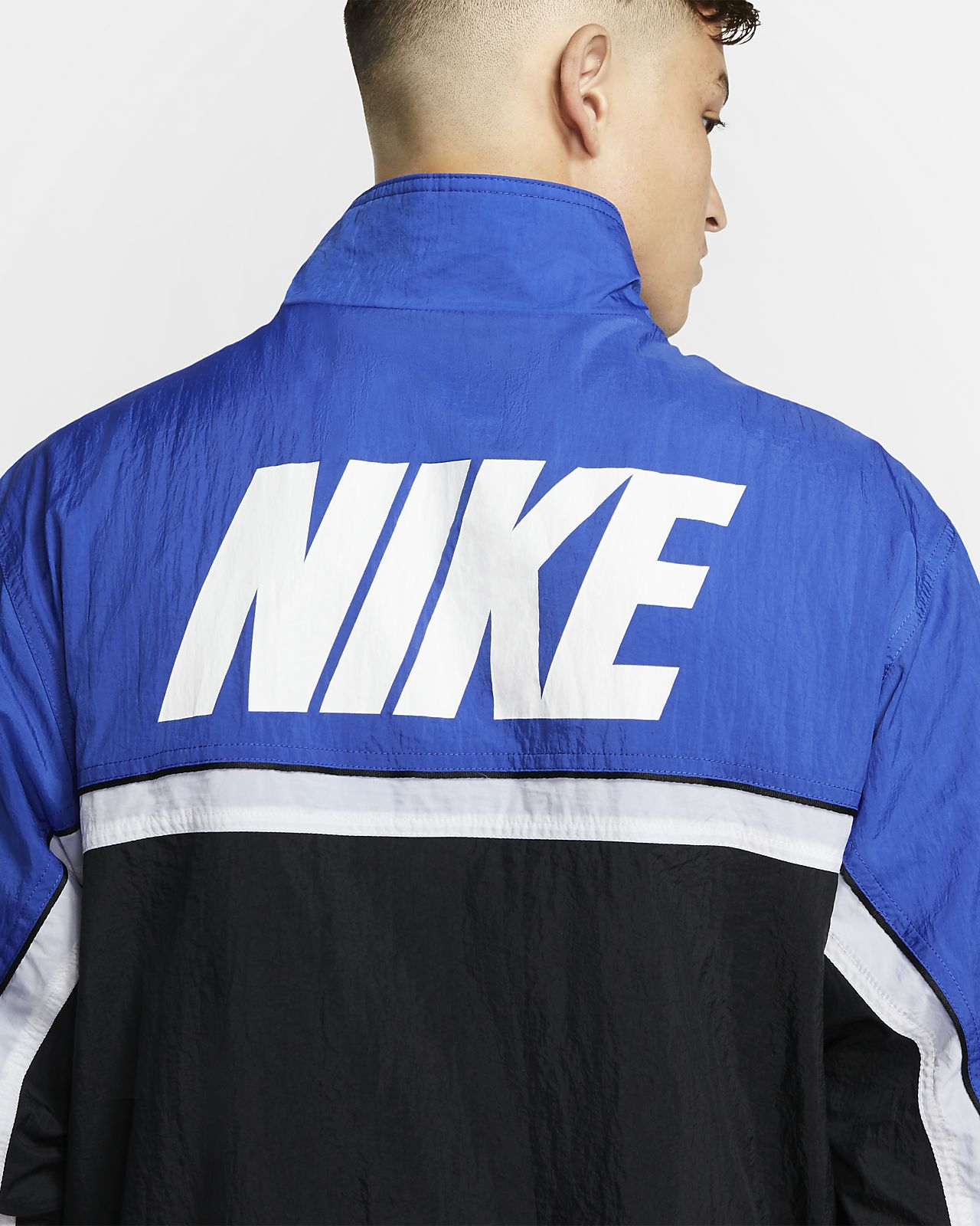 Giacca da basket nike uomo blu nike bianco