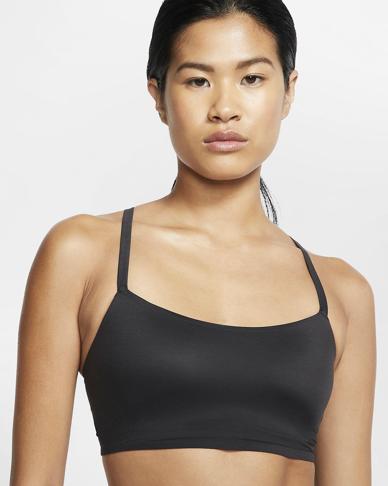 Nike Indy Luxe Sport-BH mit leichtem Halt und einteiligem Polster für Damen