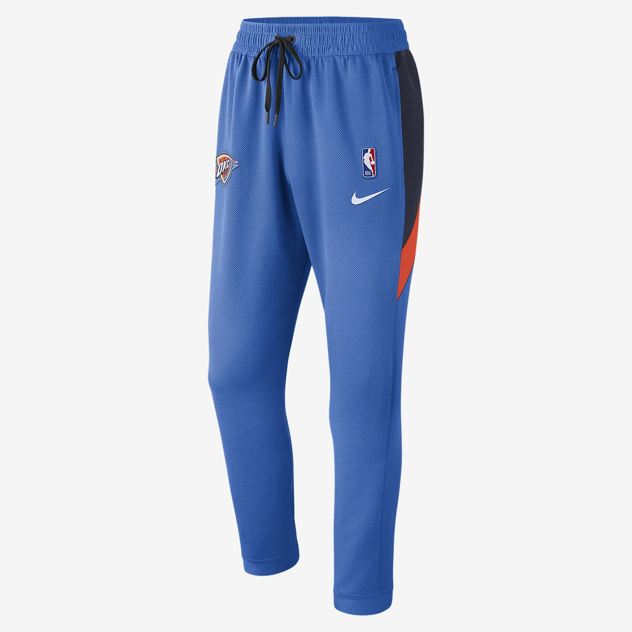 NBA-byxor Oklahoma City Thunder Nike Therma Flex Showtime för män