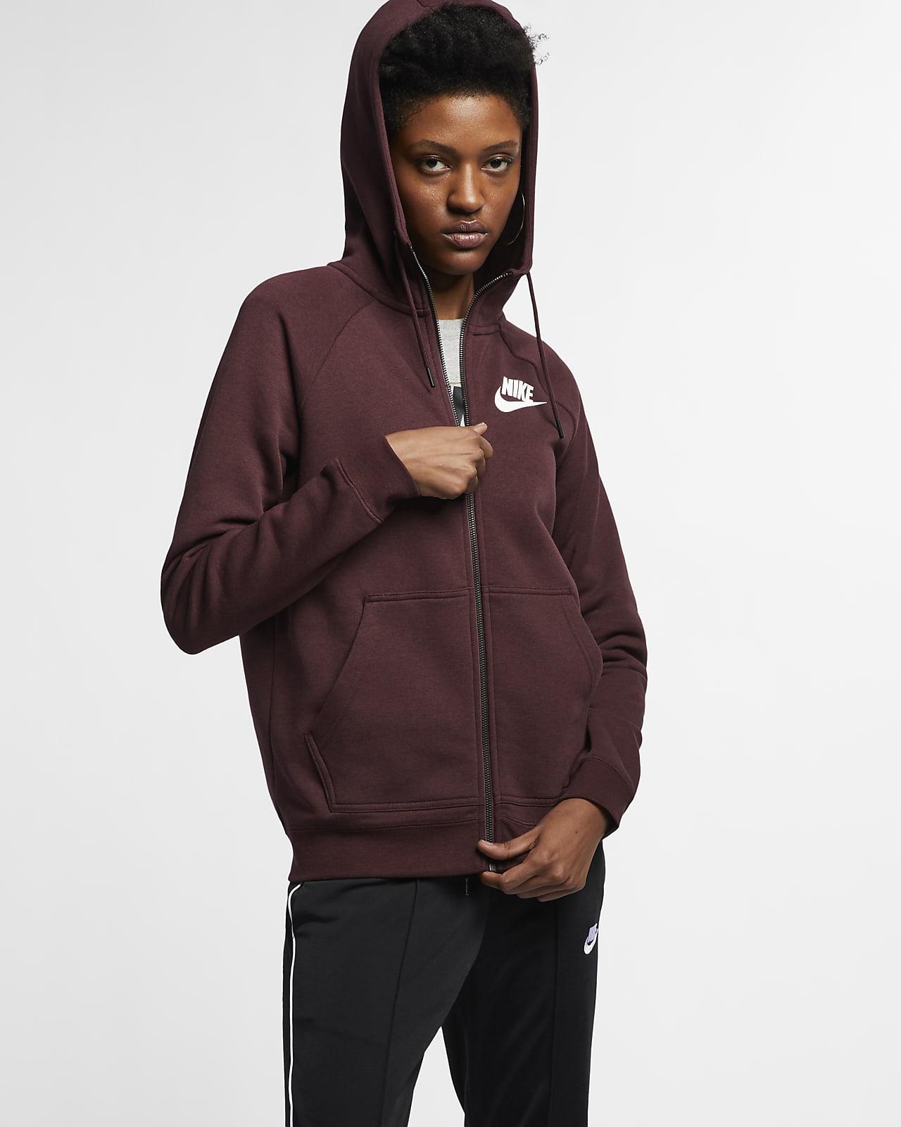 Nike Sportswear Rally Tam Boy Fermuarlı Kadın Kapüşonlu Üst