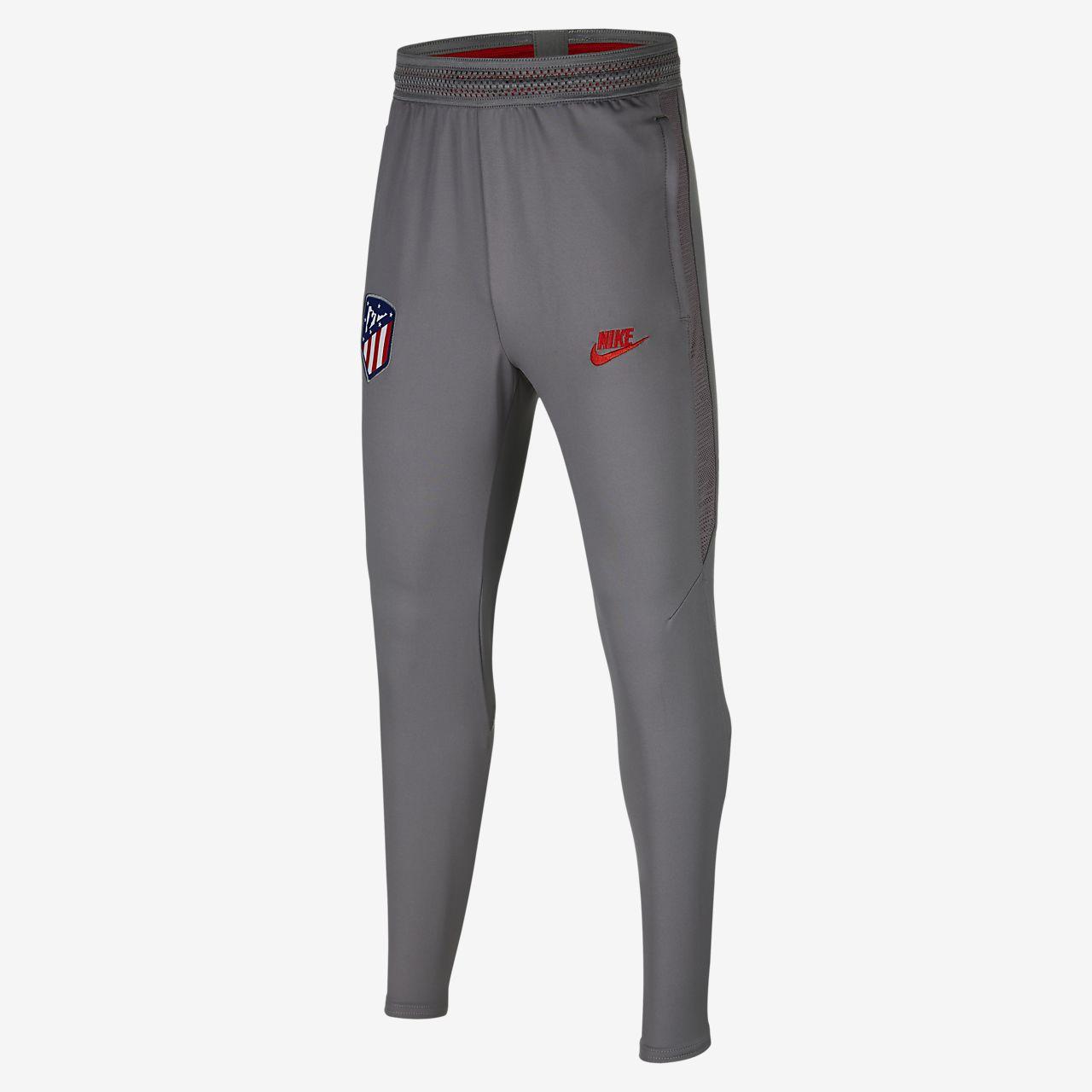 Spodnie piłkarskie dla dużych dzieci Nike Dri-FIT Atlético de Madrid Strike
