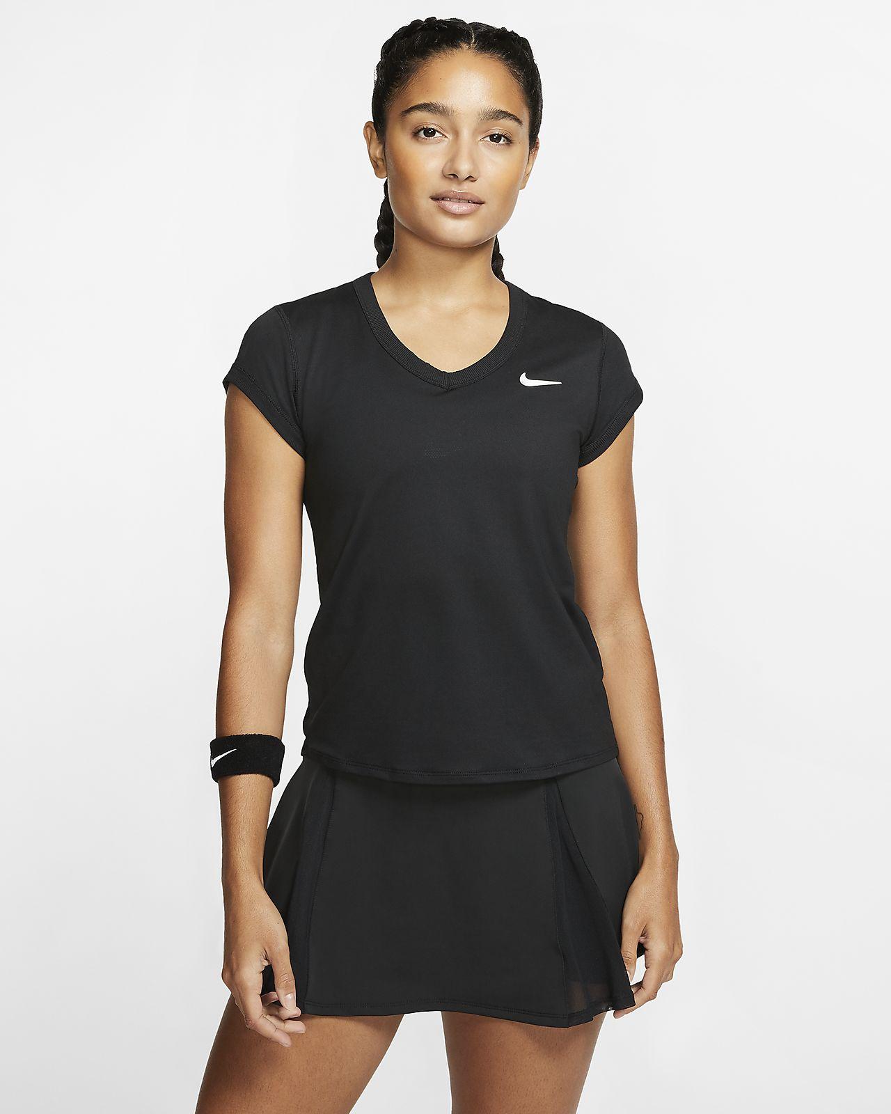 Haut de tennis à manches courtes NikeCourt Dri-FIT pour Femme