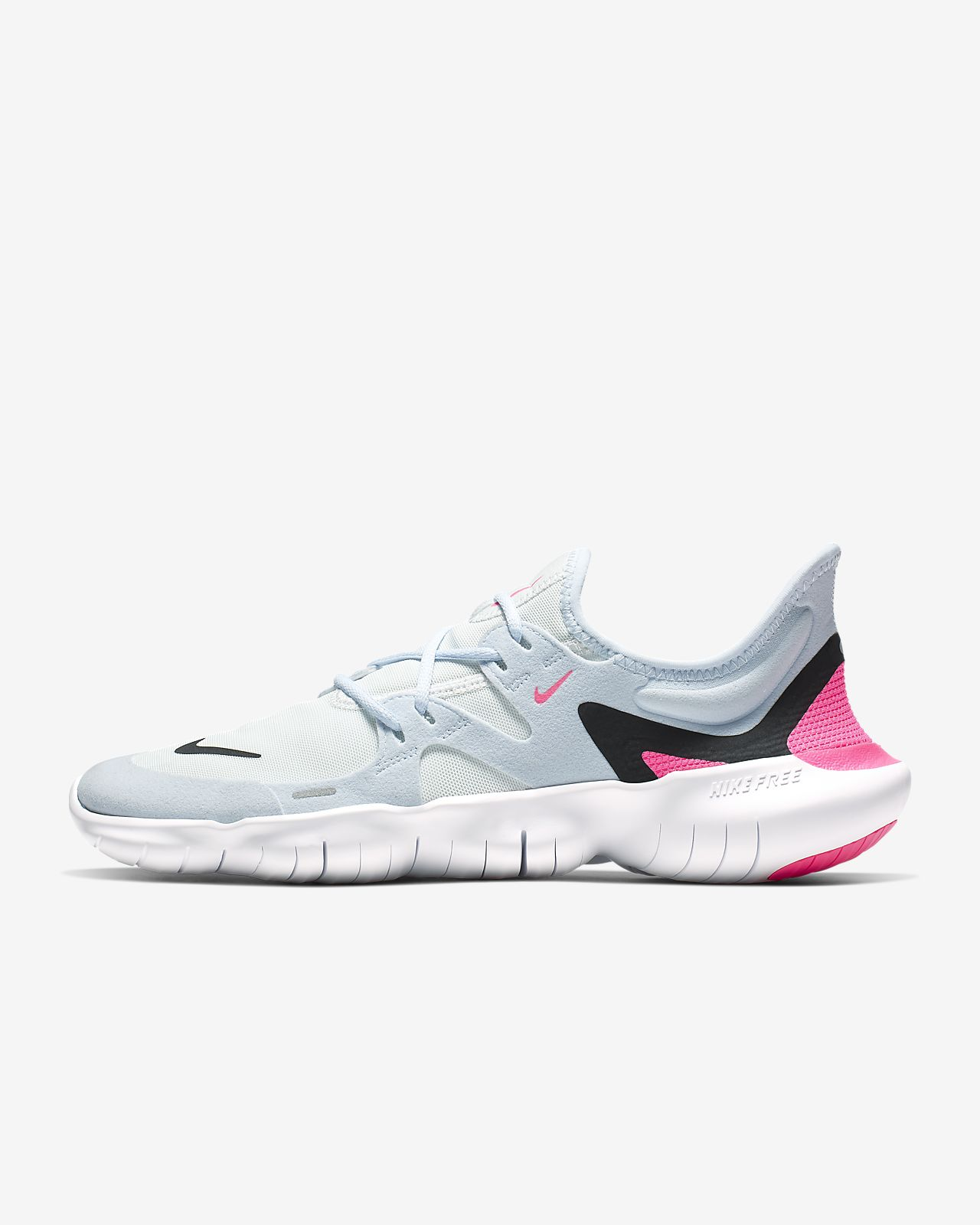 Nike women's free 5.0 v4 sail pink force running trainer