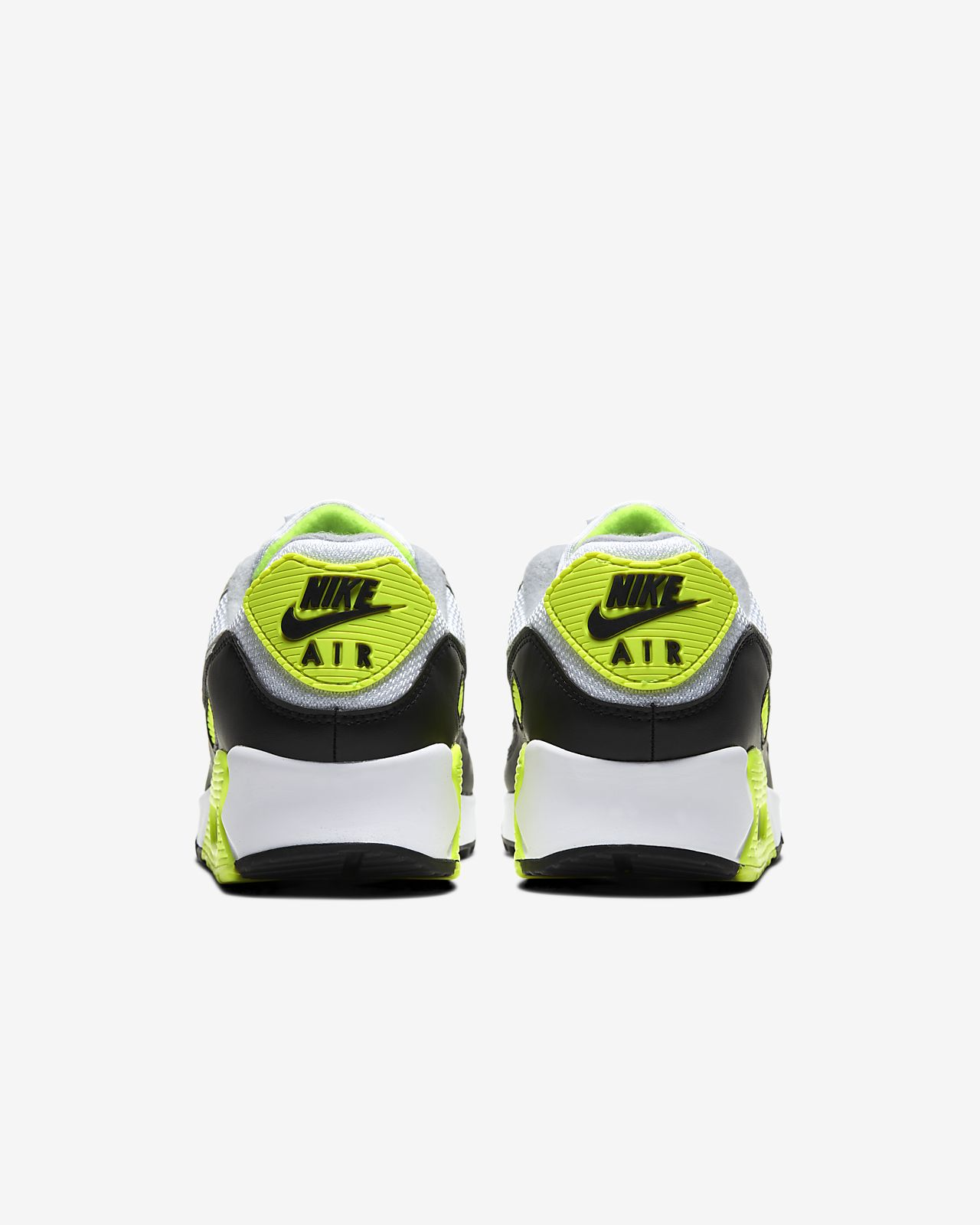 Nike Men's Air Max 90 OG Volt Green White Particle Grey Black 2020 CD0881 103