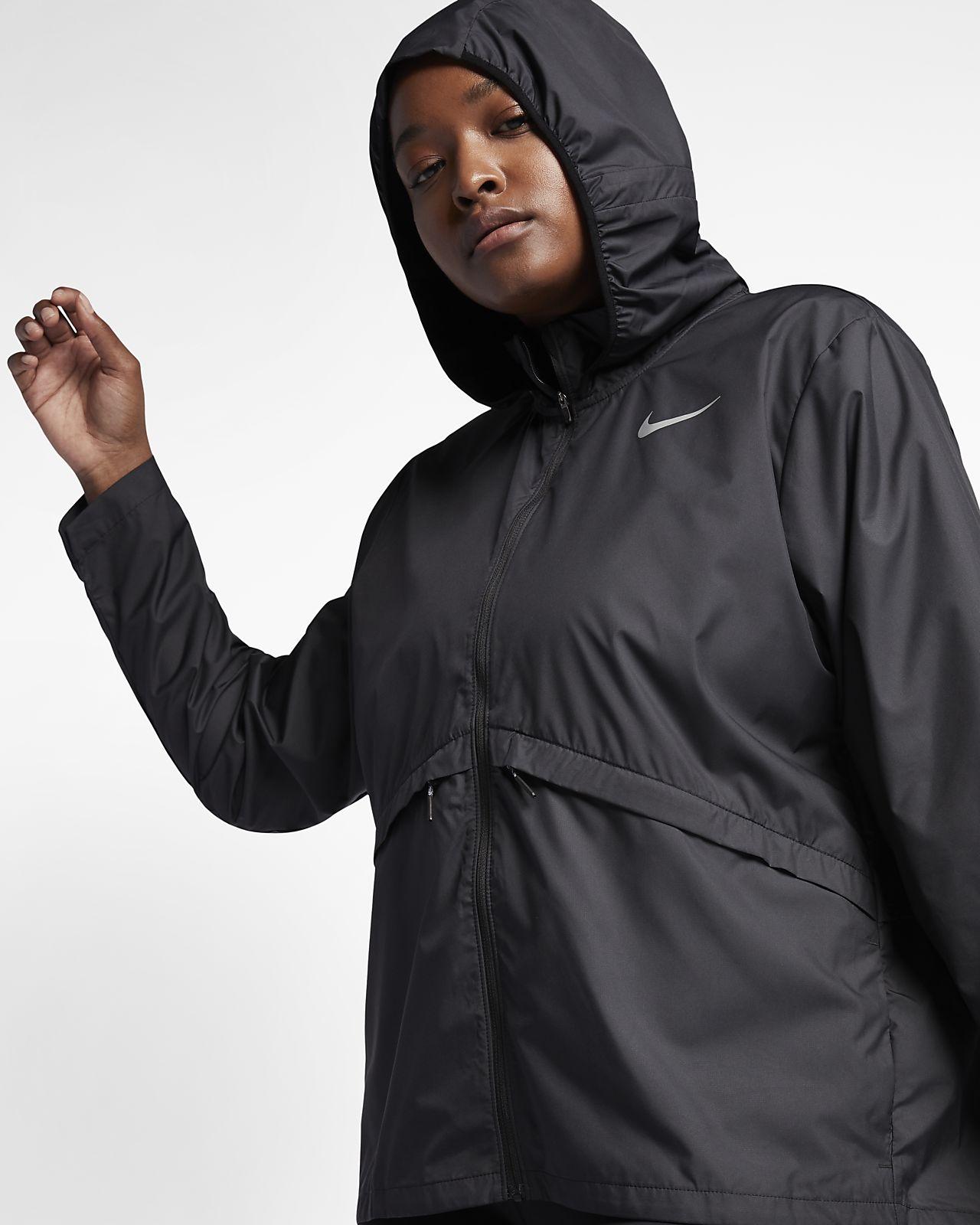 Nike Essential Women's Hooded Running Jacket (Plus Size)