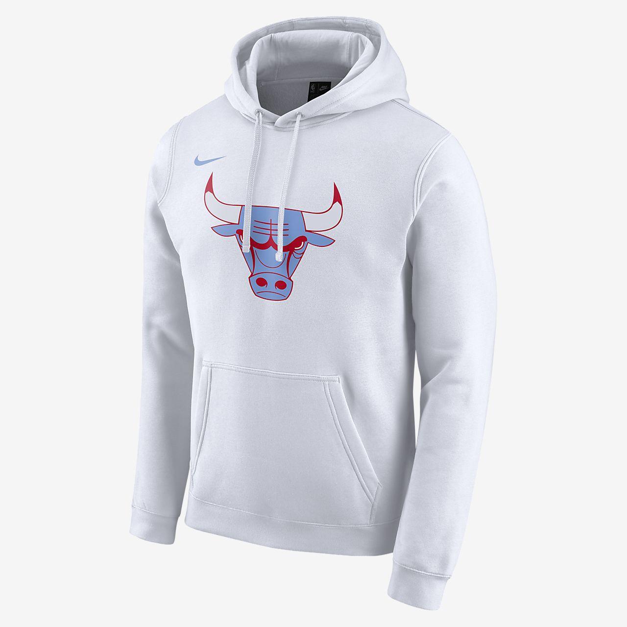 colección de descuento comprar oficial cupón de descuento Bulls City Edition Logo Sudadera con capucha Nike NBA - Hombre ...