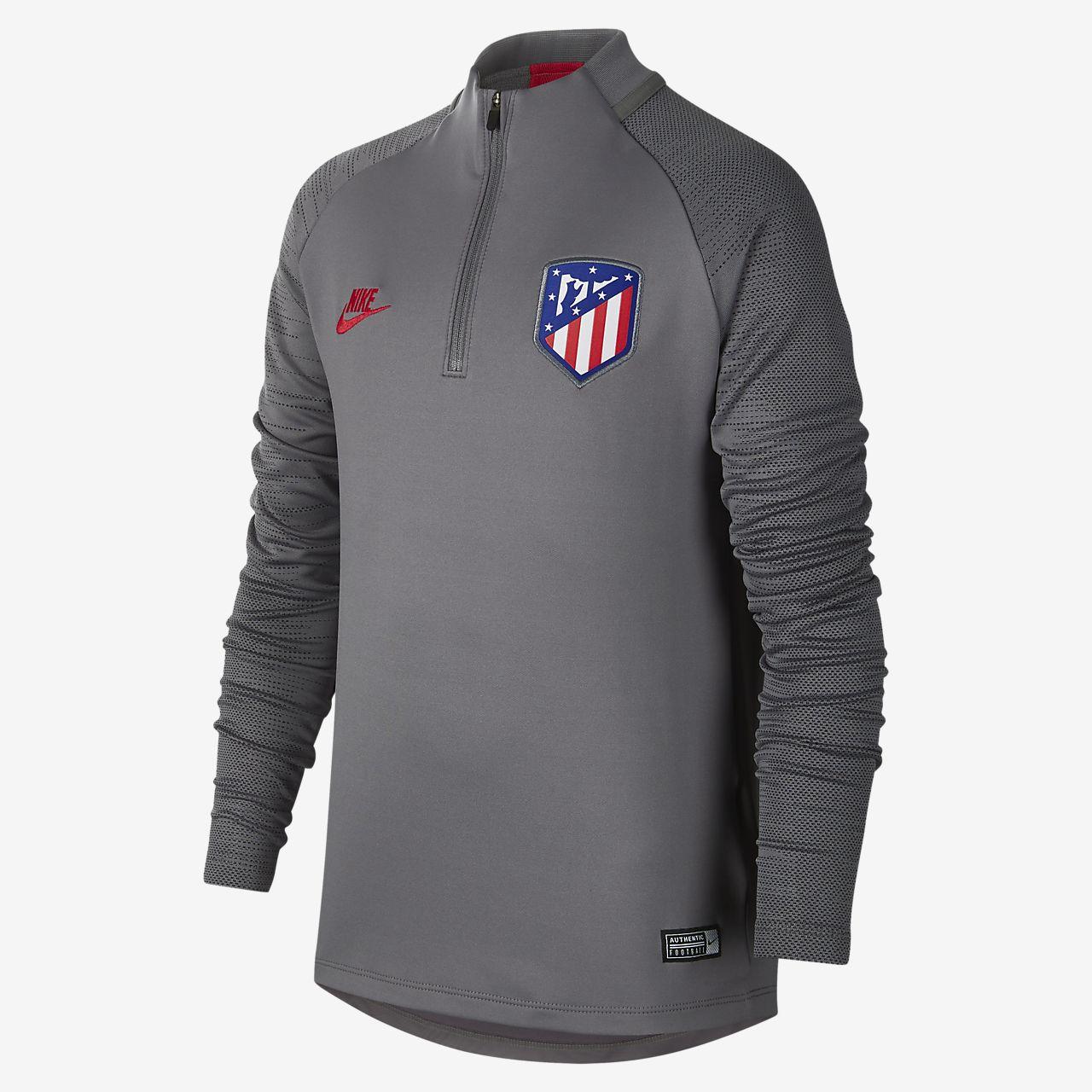 Atlético de Madrid Strike Older Kids' Football Drill Top