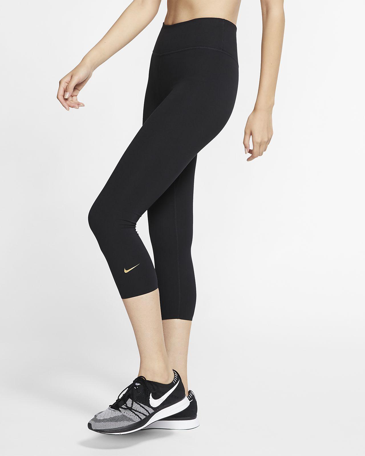 Damskie spodnie 3/4 ze średnim stanem Nike One Luxe