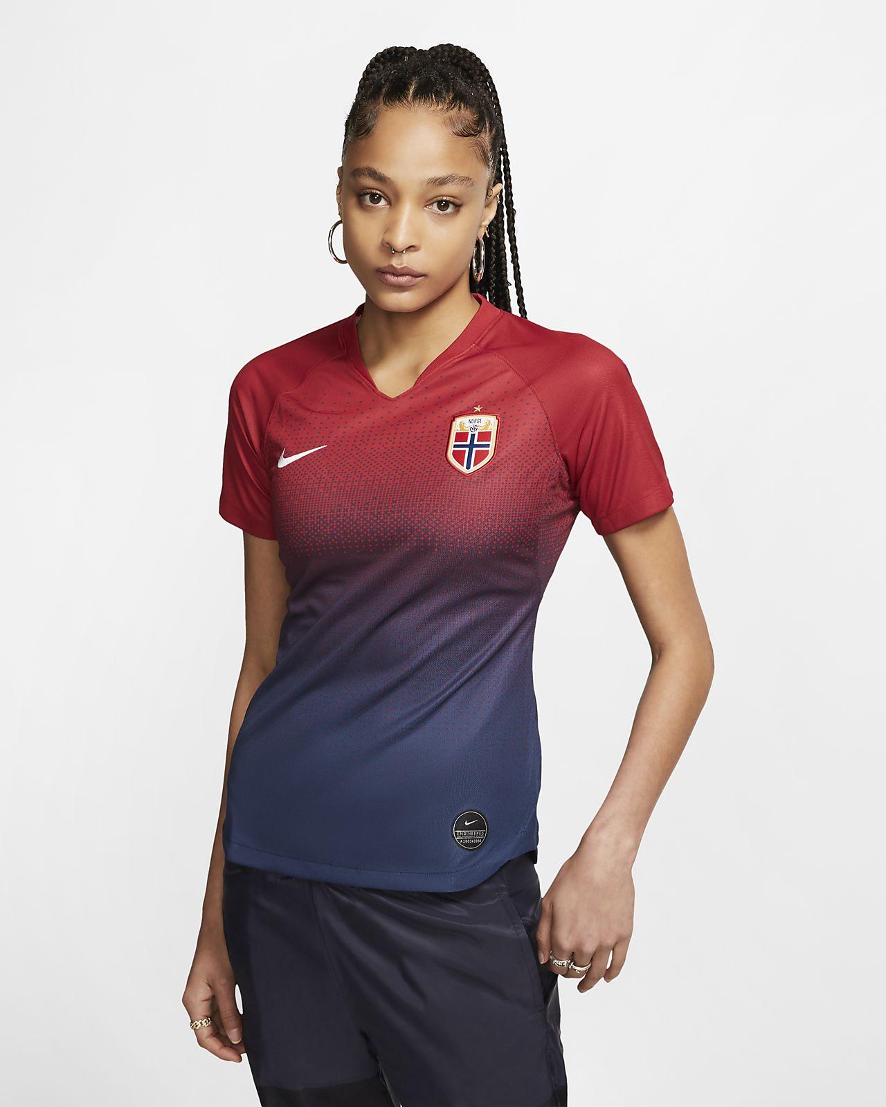 Norway 2019 Stadium Home-fodboldtrøje til kvinder