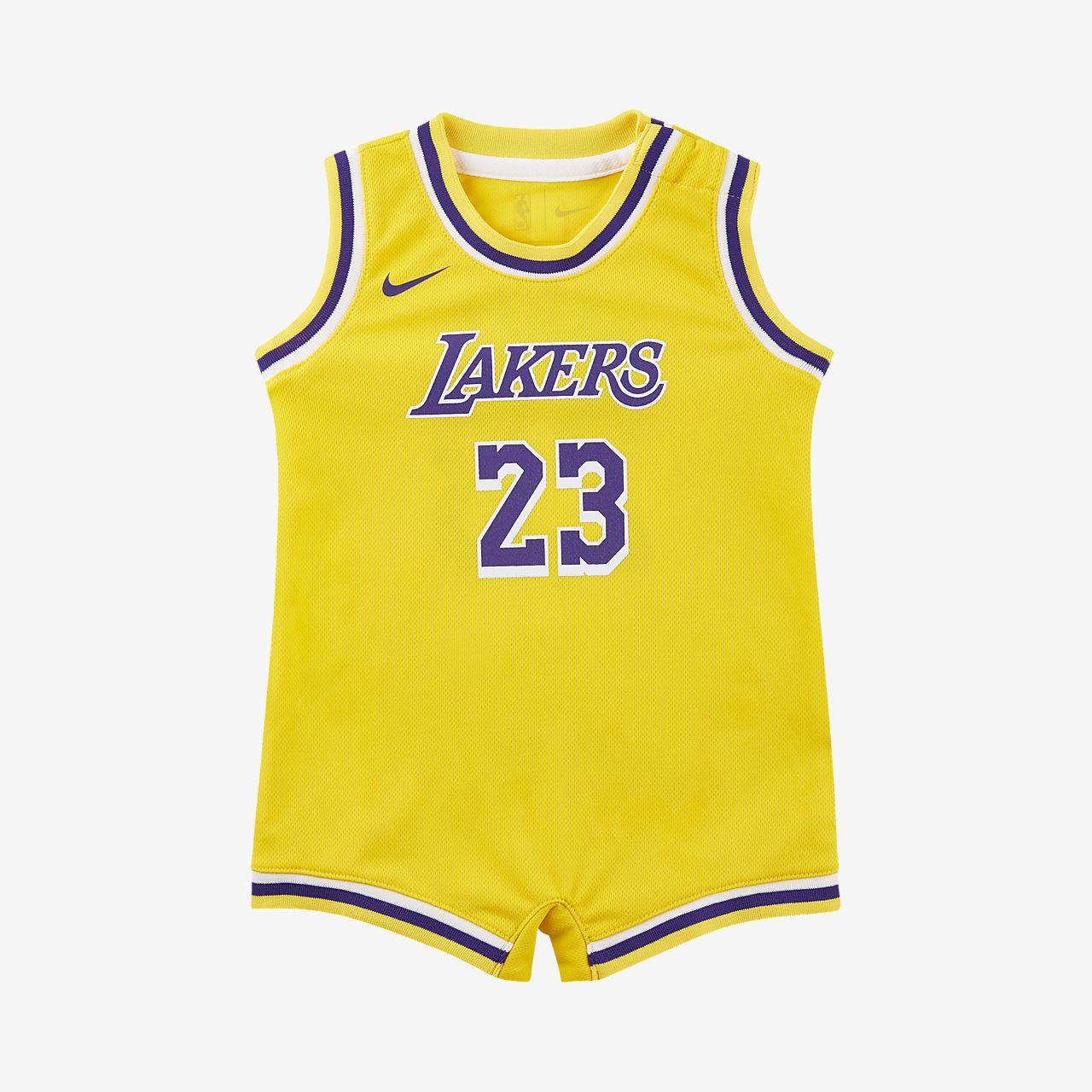 洛杉矶湖人队 Icon Edition Nike NBA婴童连体衣