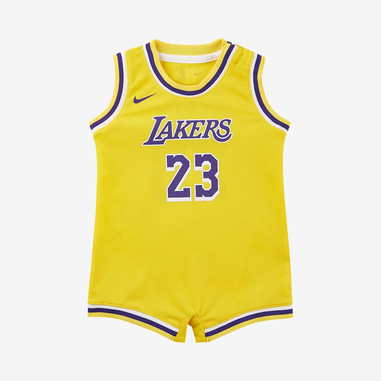 洛杉矶湖人队 (LeBron James) Icon Edition Nike NBA 婴童连体衣