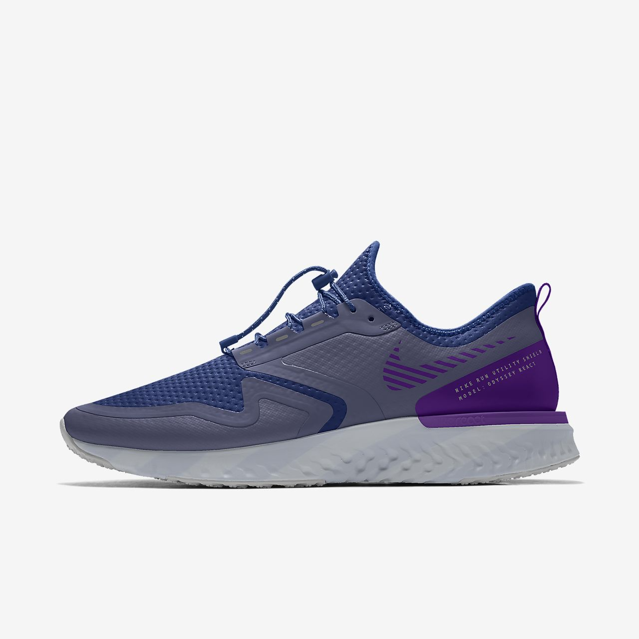 Specialdesignad löparsko Nike Odyssey React Shield By You för män