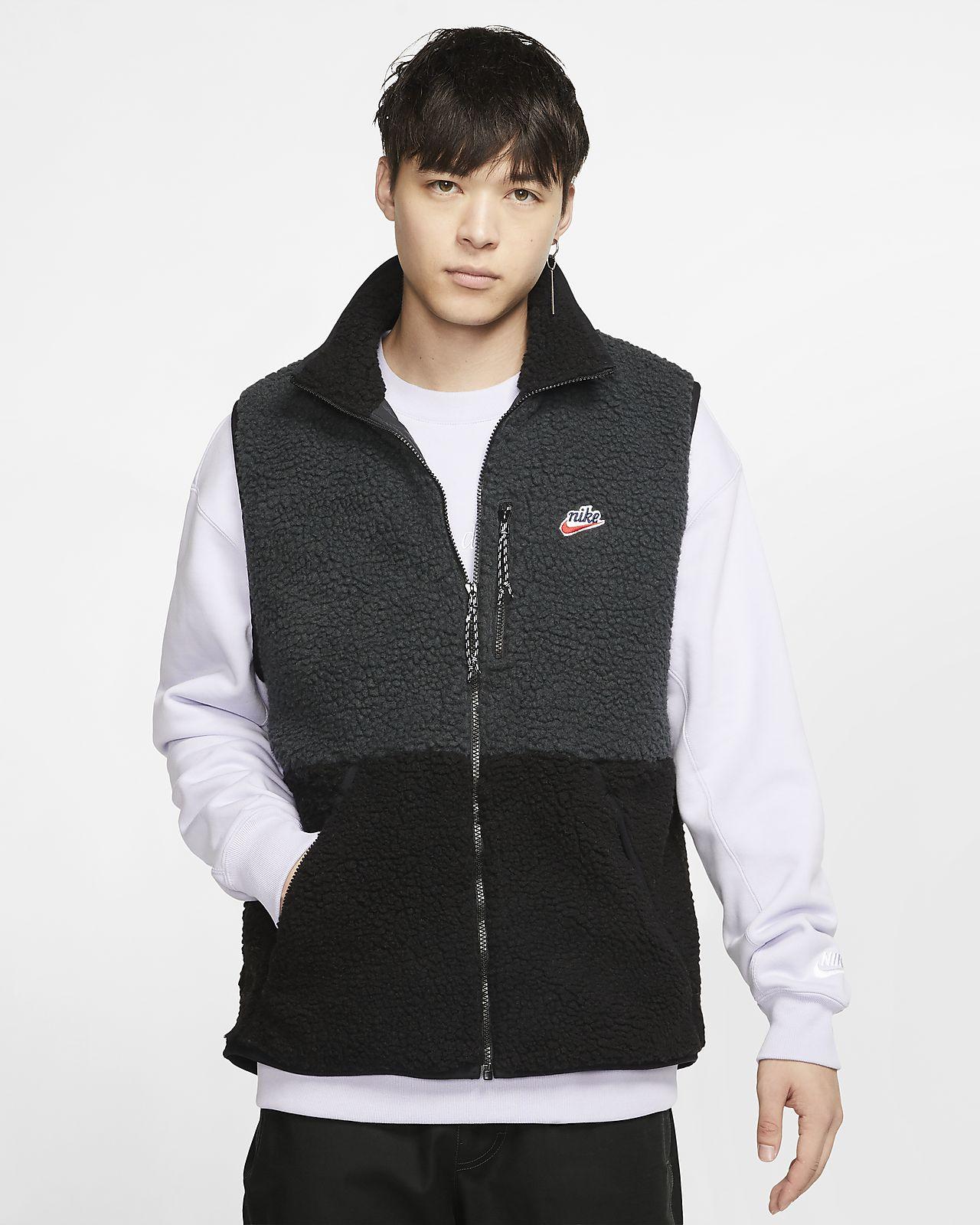 Essentials Mens Sherpa Fleece Vest