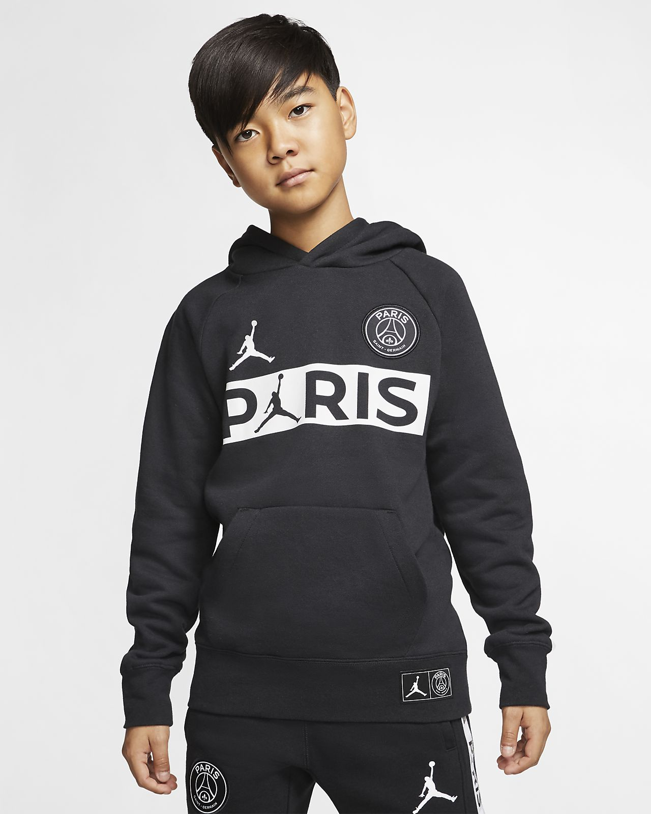 Sweat à capuche en tissu Fleece Paris Saint Germain pour