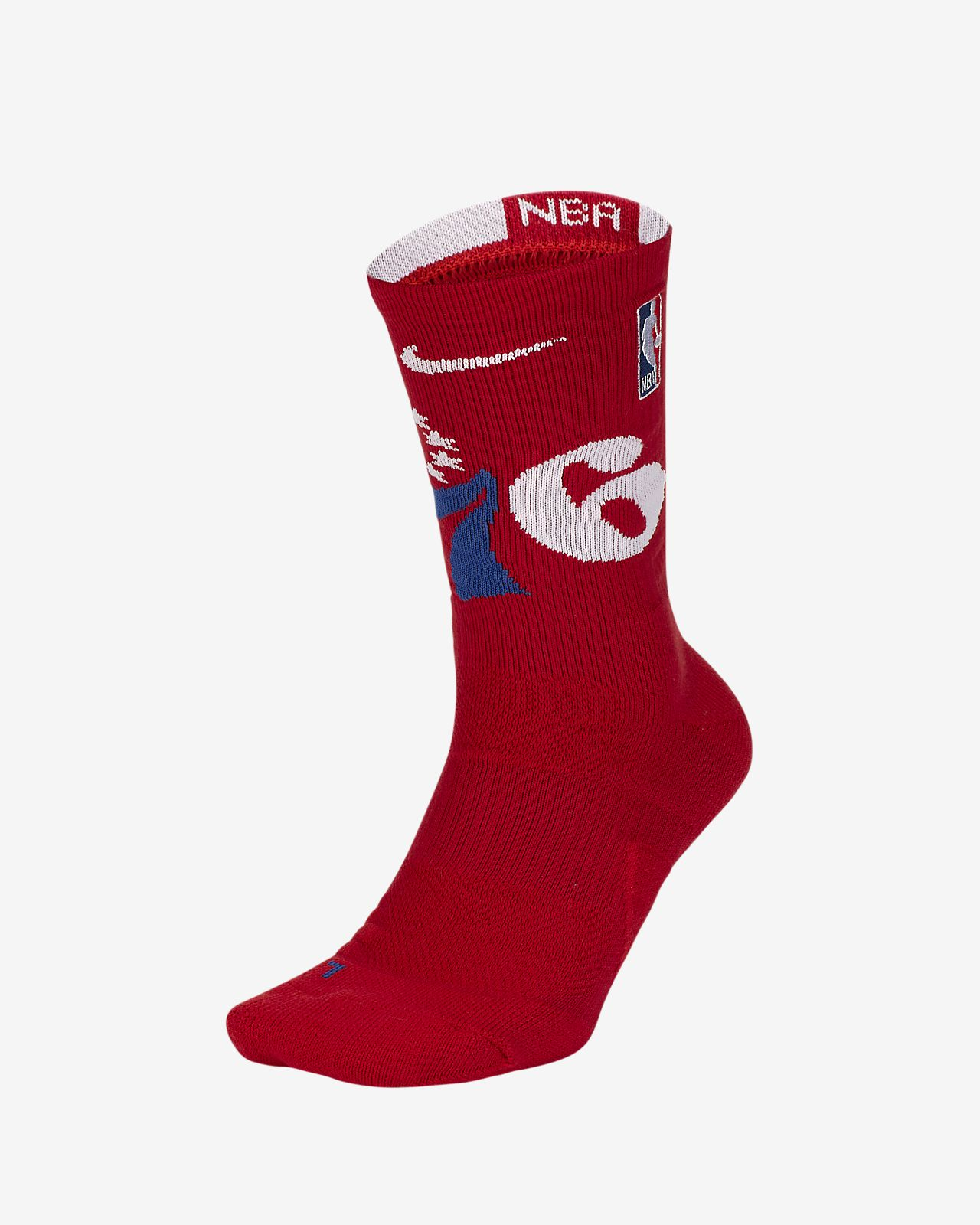 Calcetines largos de la NBA Philadelphia 76ers Nike Elite