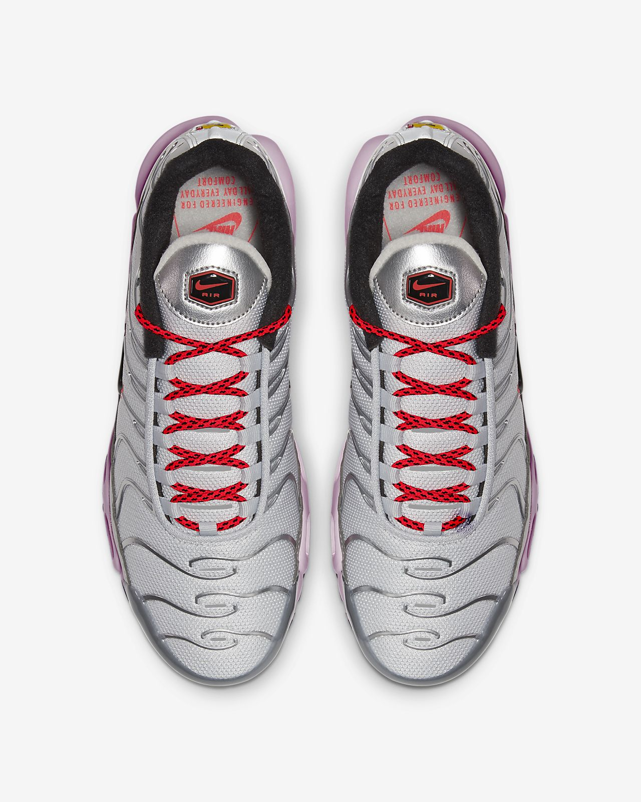 Nike Air Max Plus Premium Womens WhiteMetallic SilverBlack